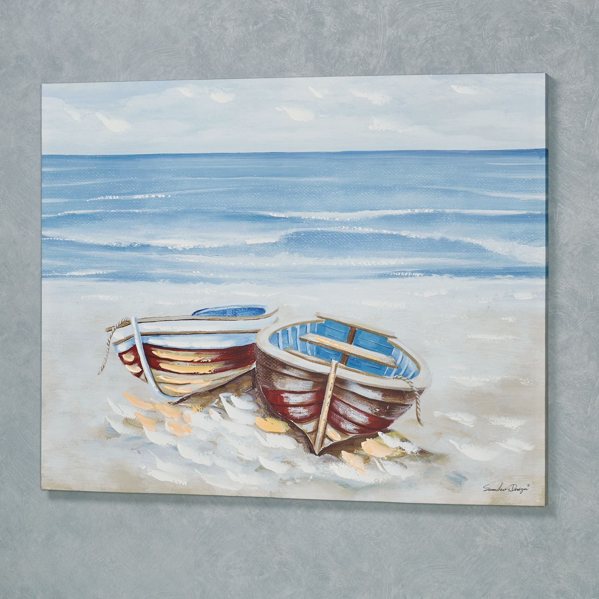 Boat Duo Coastal Canvas Wall Art