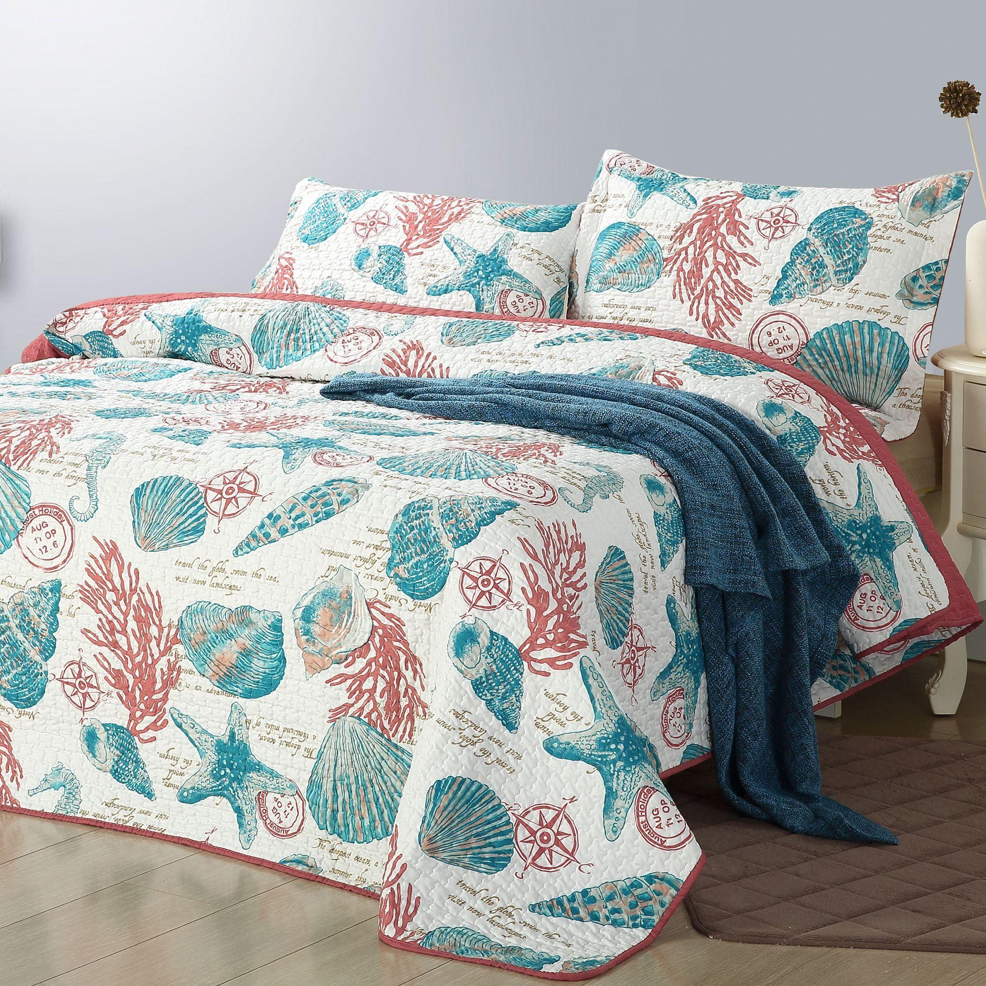 Ocean Seashell Quilt Set