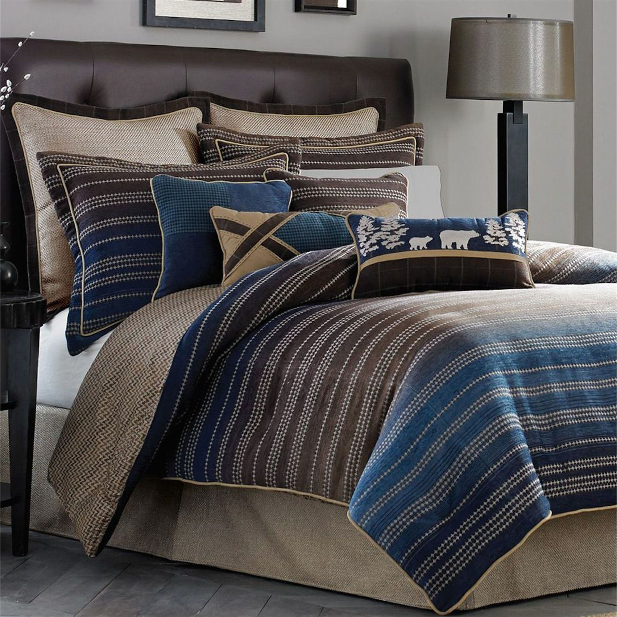 side striped stripe the utc products comforter set view canopy amalfi under