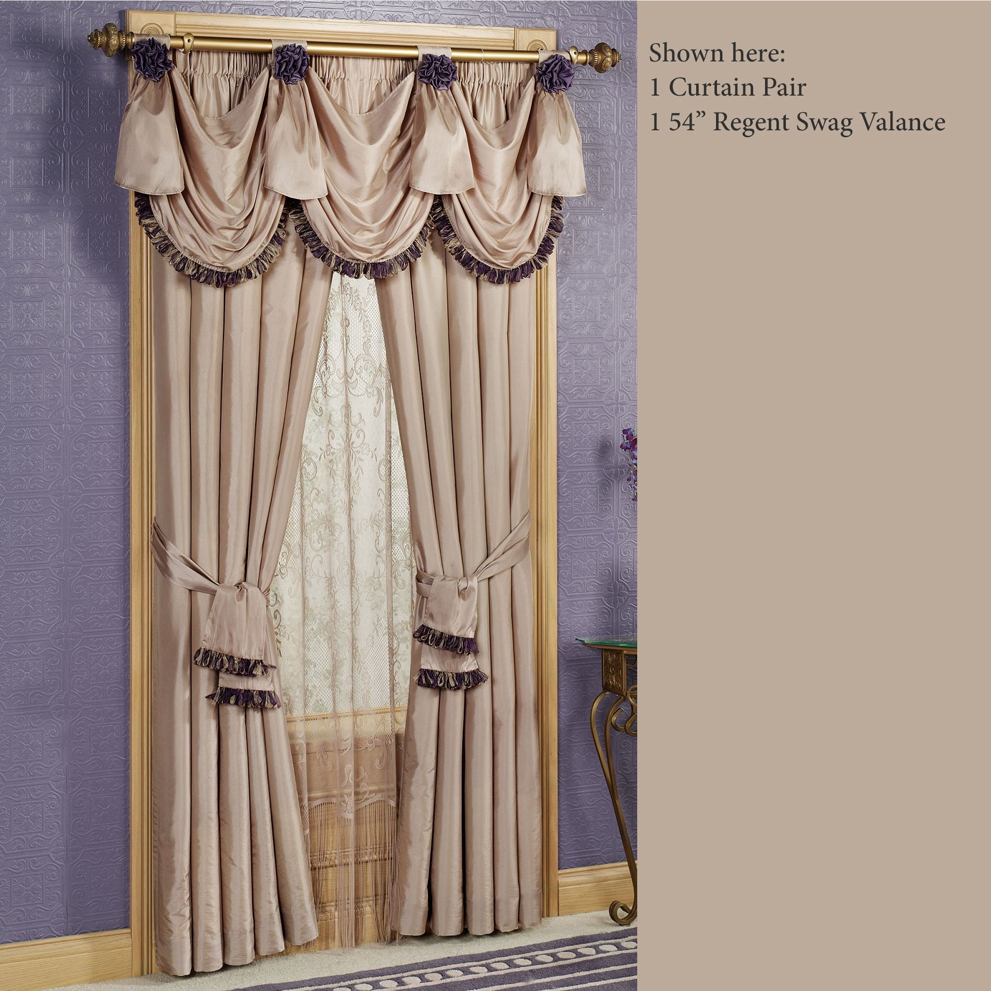 curtain drapes sheer swag eyelet beige pelmet curtains cream pleat valance ivory fabric itm