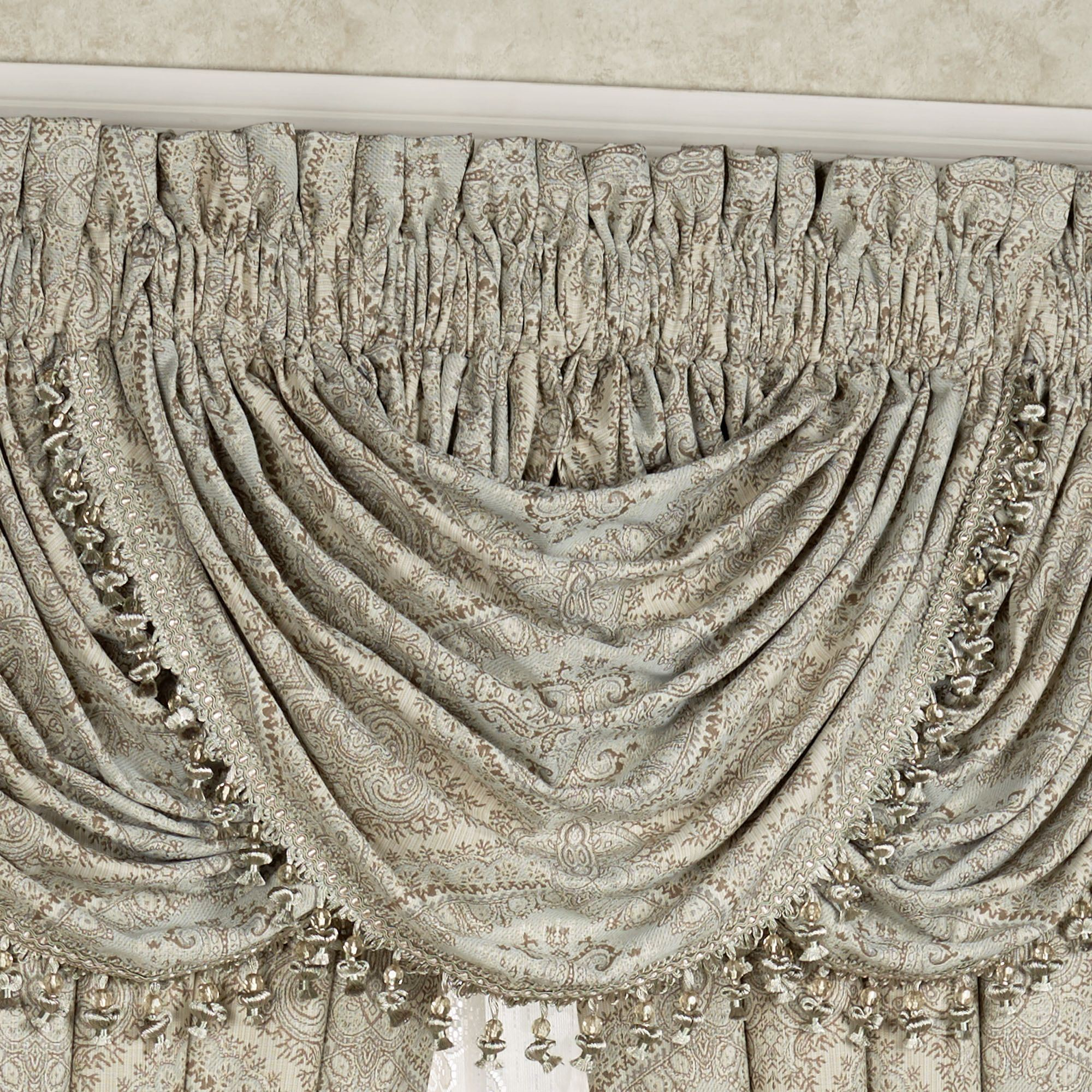 ogee waterfall p tailored valance curtain j by queen york new damask curtains x pair treatment window gianna orchid