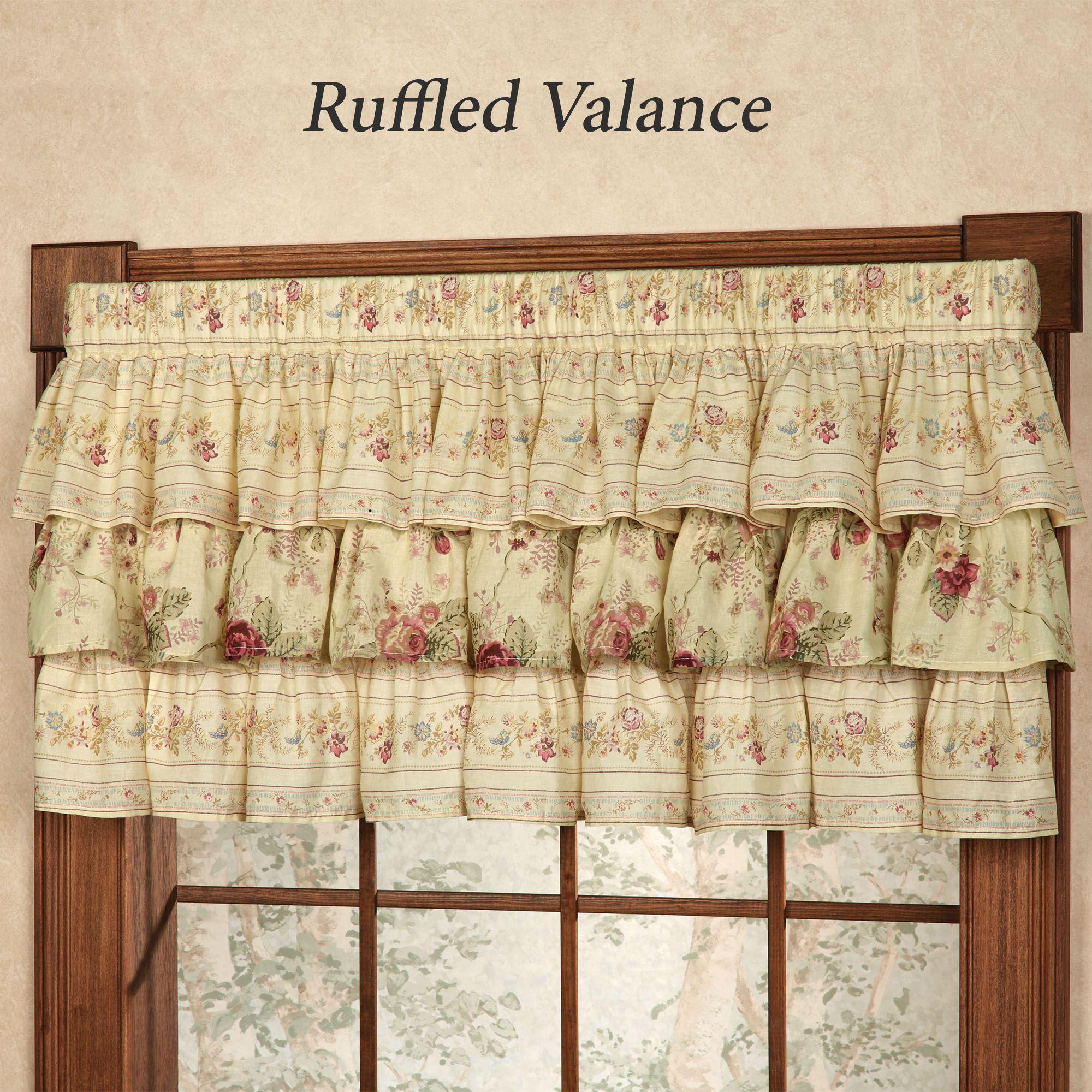 Vintage Rose Floral Ruffled Grande Bedspread Ruffled Bedspreads