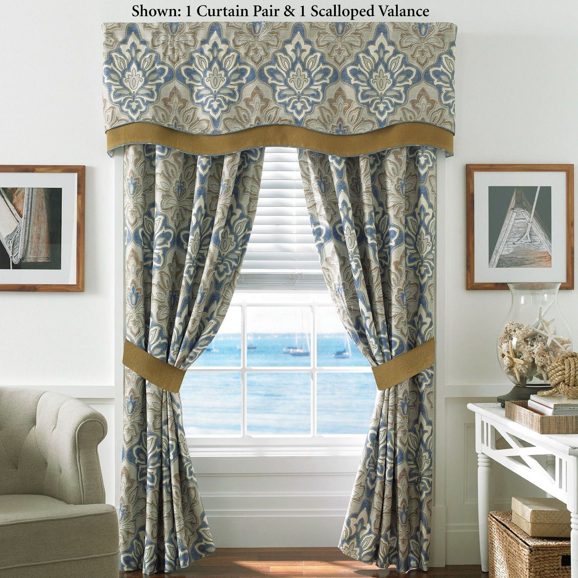 chapel p beige by curtain treatment window tailored croscill panel from seashore hill embroidered coastal x valance