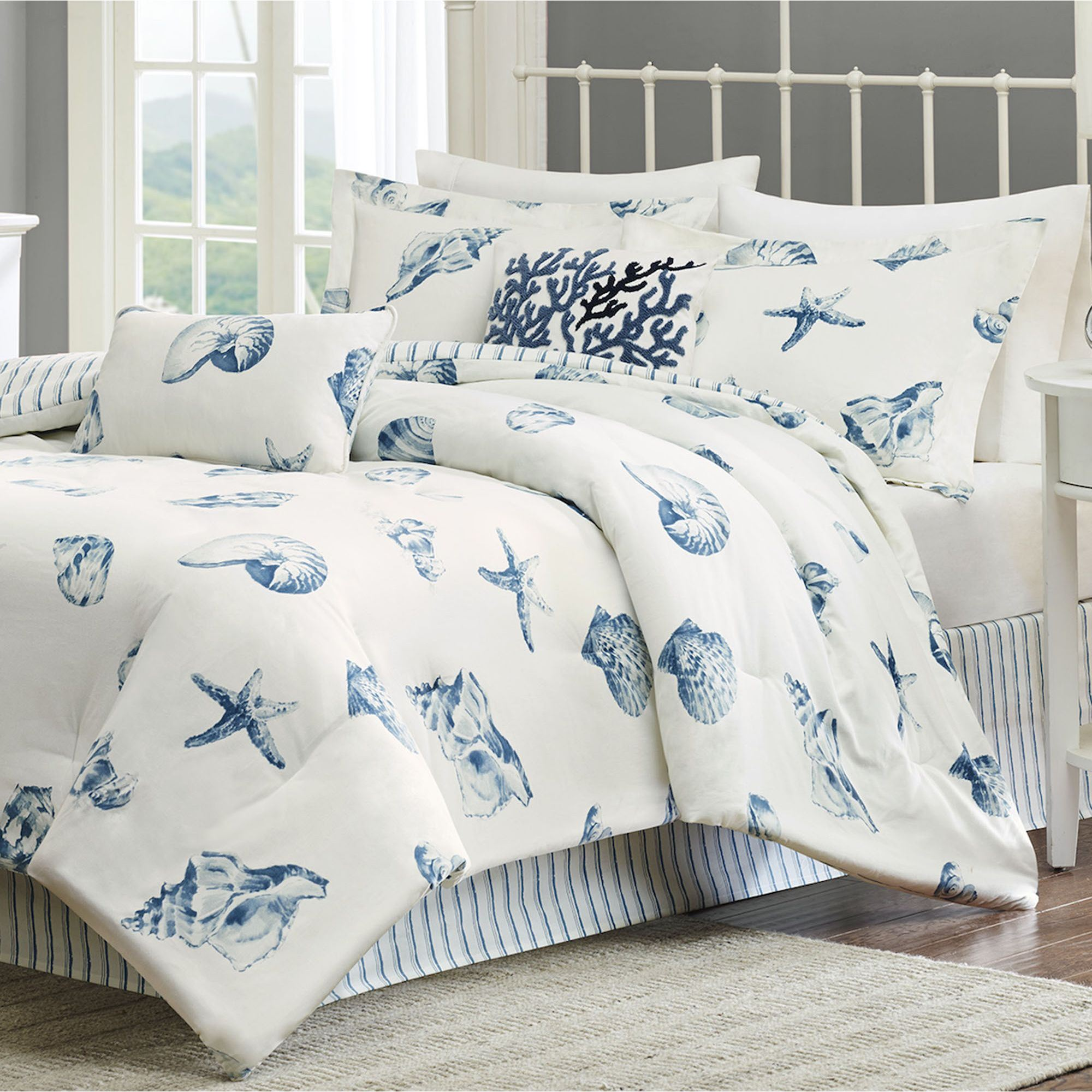 Beach House Seashell Coastal Comforter Bedding