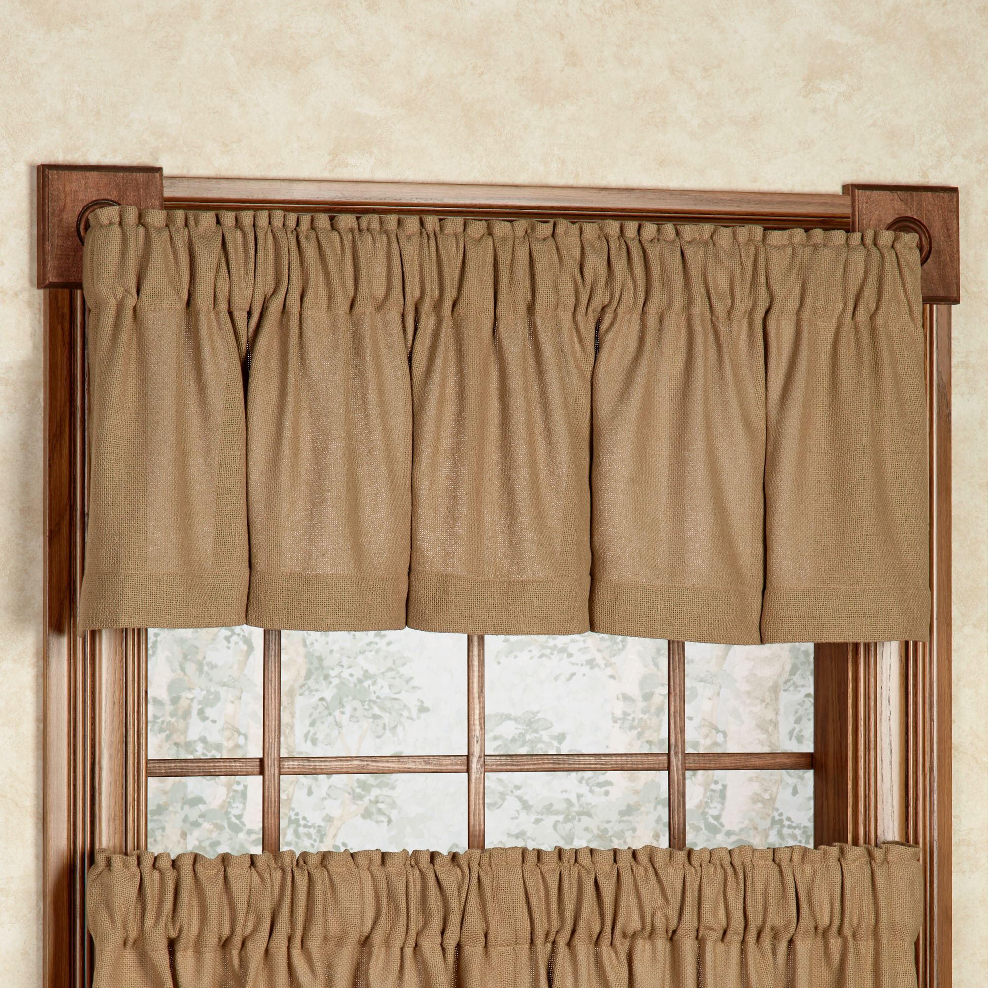 fabric window treatments inexpensive burlap tailored valance natural 72 16 soft cotton window treatment