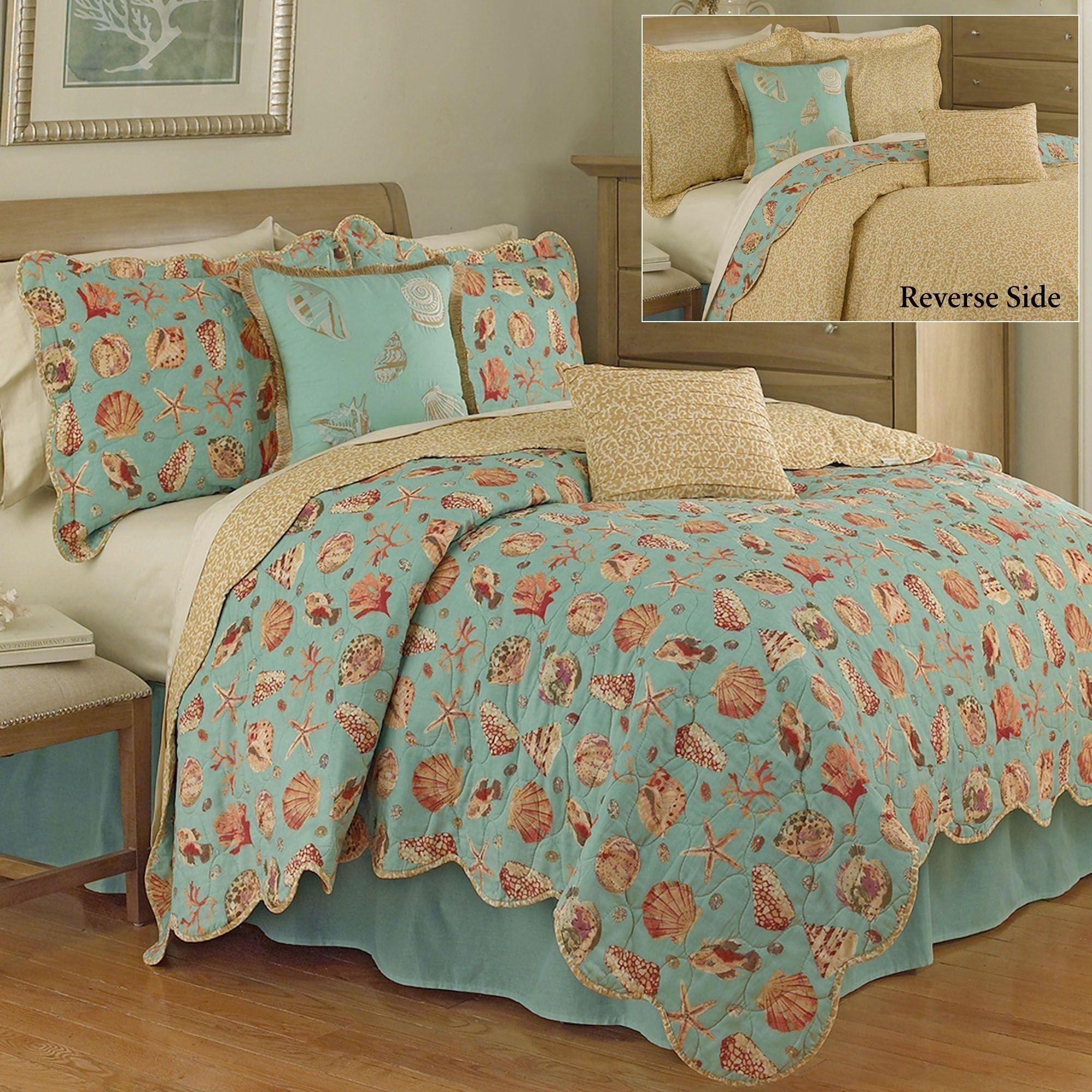 seashell a catalina bed quilt santa coastal ordable bedding sets