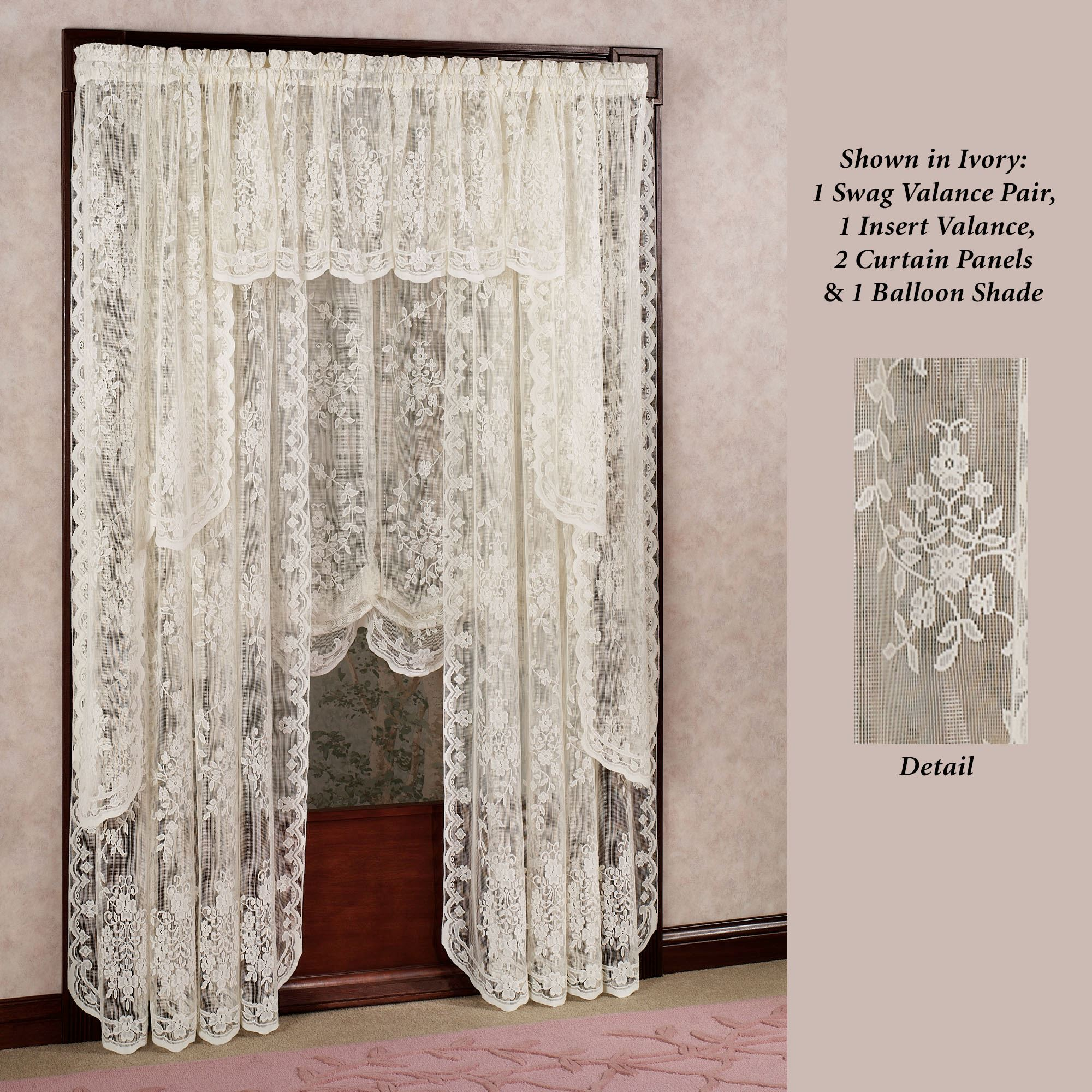 lace treatment valances expand valance rose window windows cameo click tailored to p for panel
