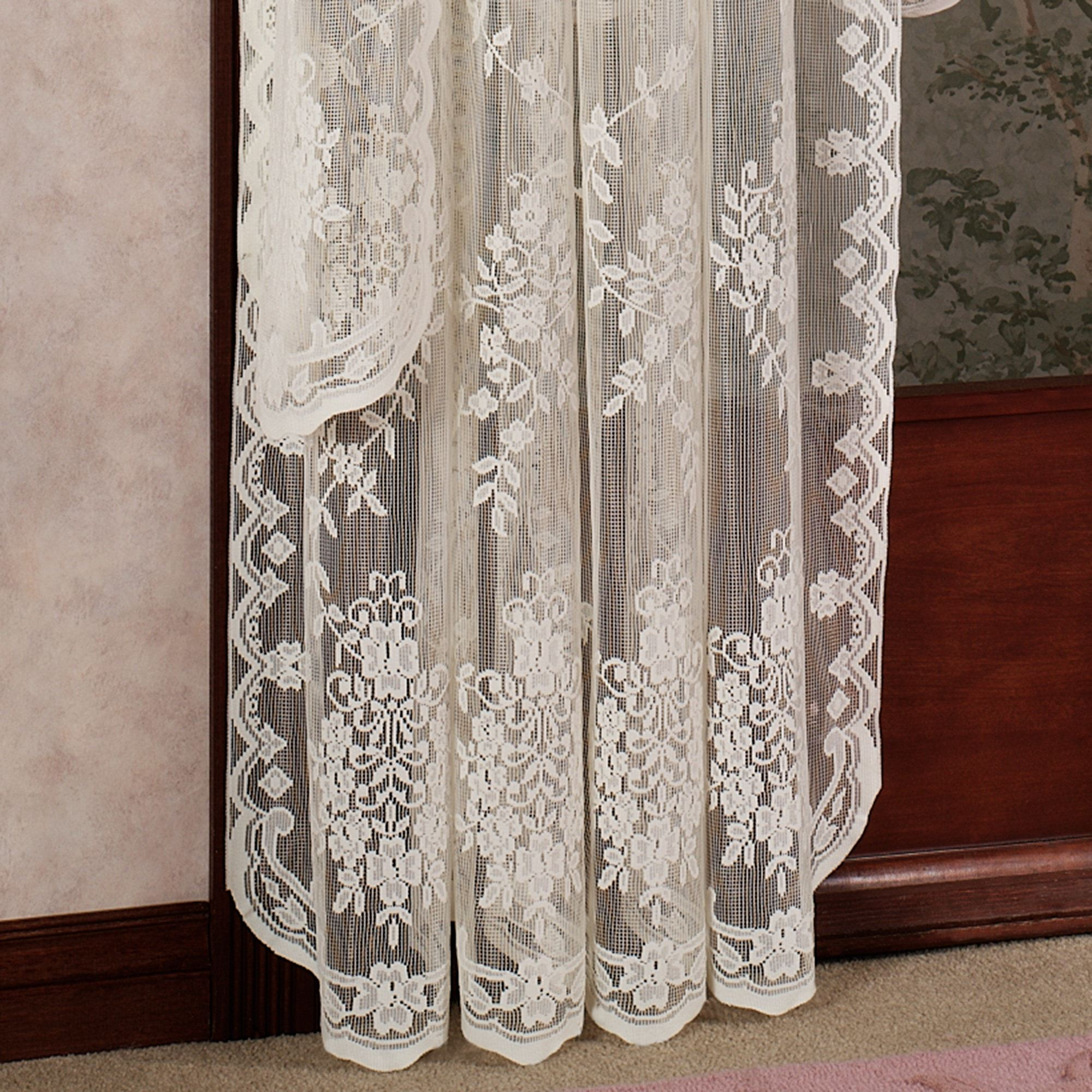 darcey sheer ivory of panels curtain curtains floral amazing grommet semi