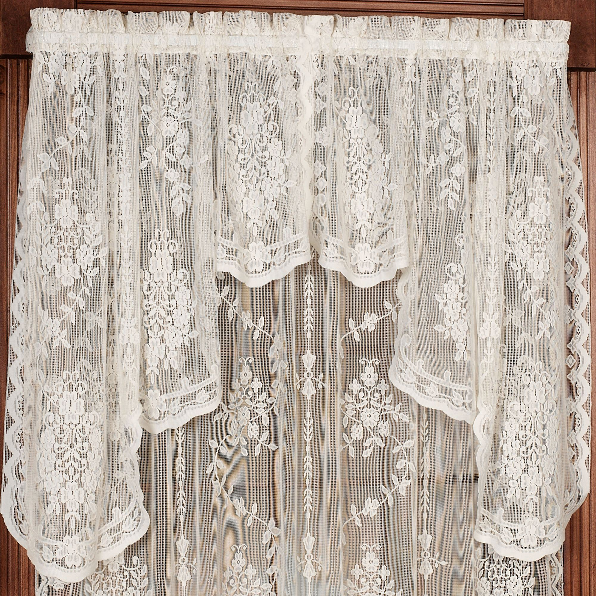 Fiona Scottish Lace Swag Valance Window Treatment