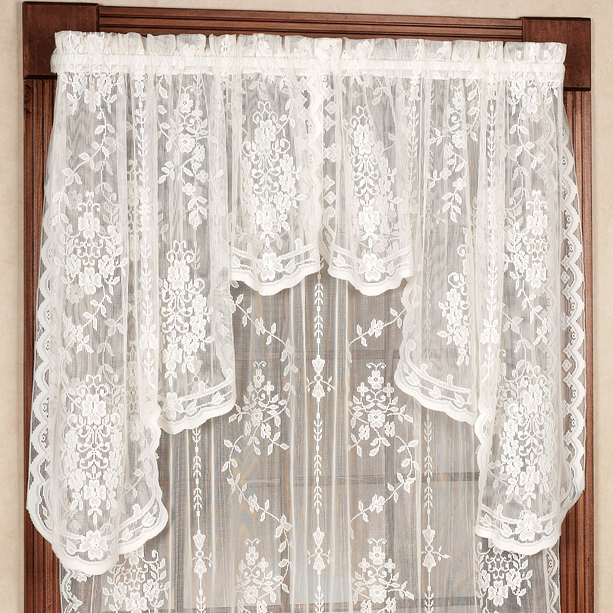 from in hollow finished vintage sheer valance balloon curtain lace cafe home rural curtains hotel for item garden blind