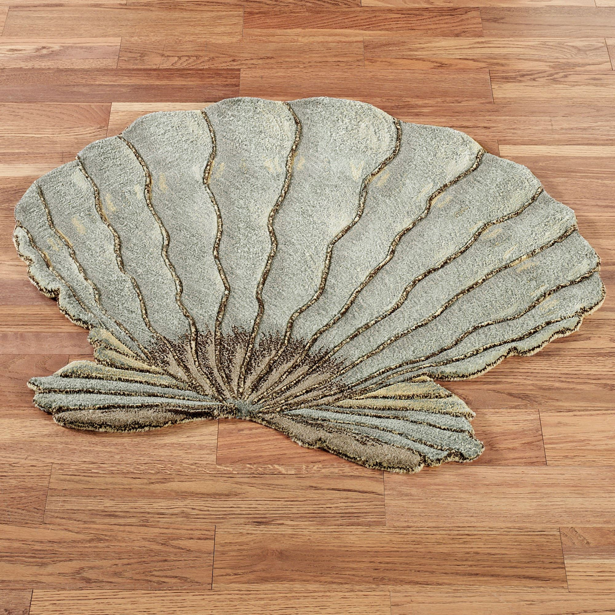 Fluted Scallop Seashell Shaped Wool Rugs