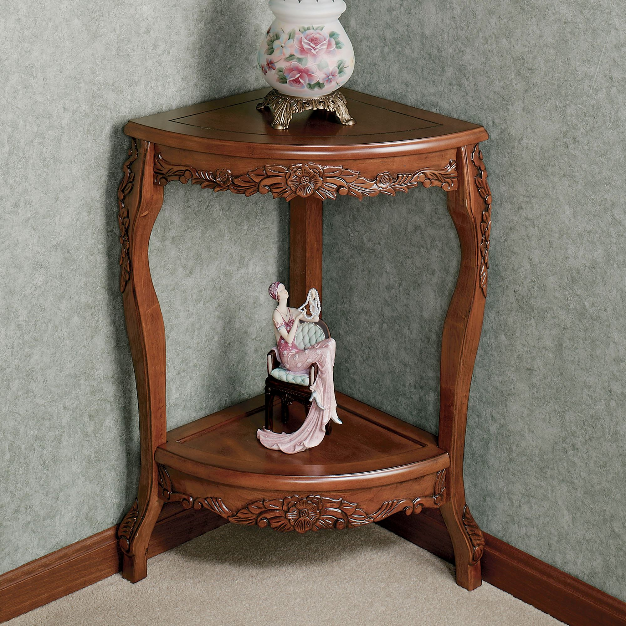 Victoriana Corner Pedestal Table