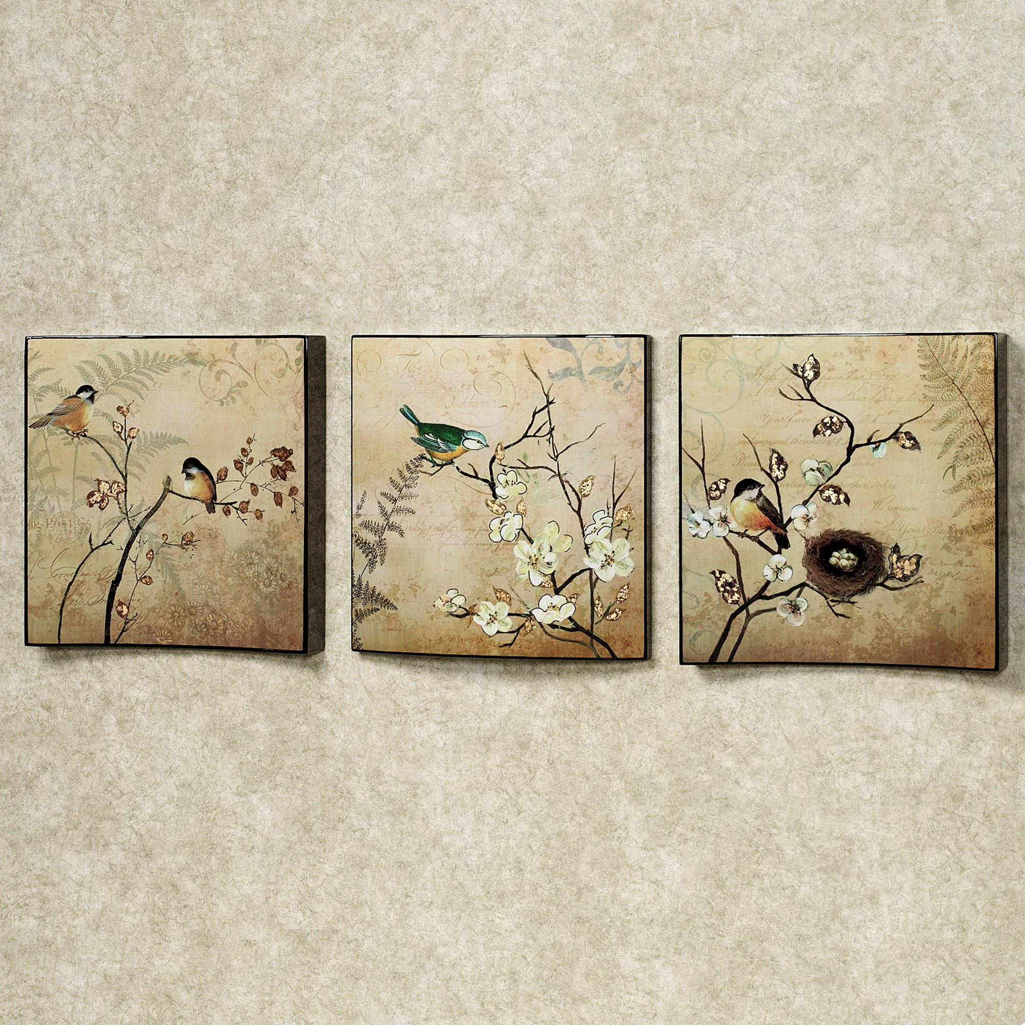 Natures Kiss Birds Wall Art Set