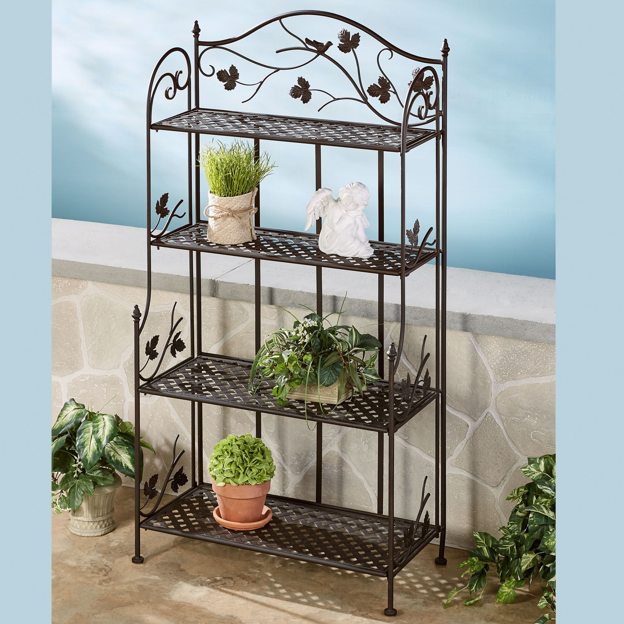 songbird symphony indoor outdoor etagere. Black Bedroom Furniture Sets. Home Design Ideas