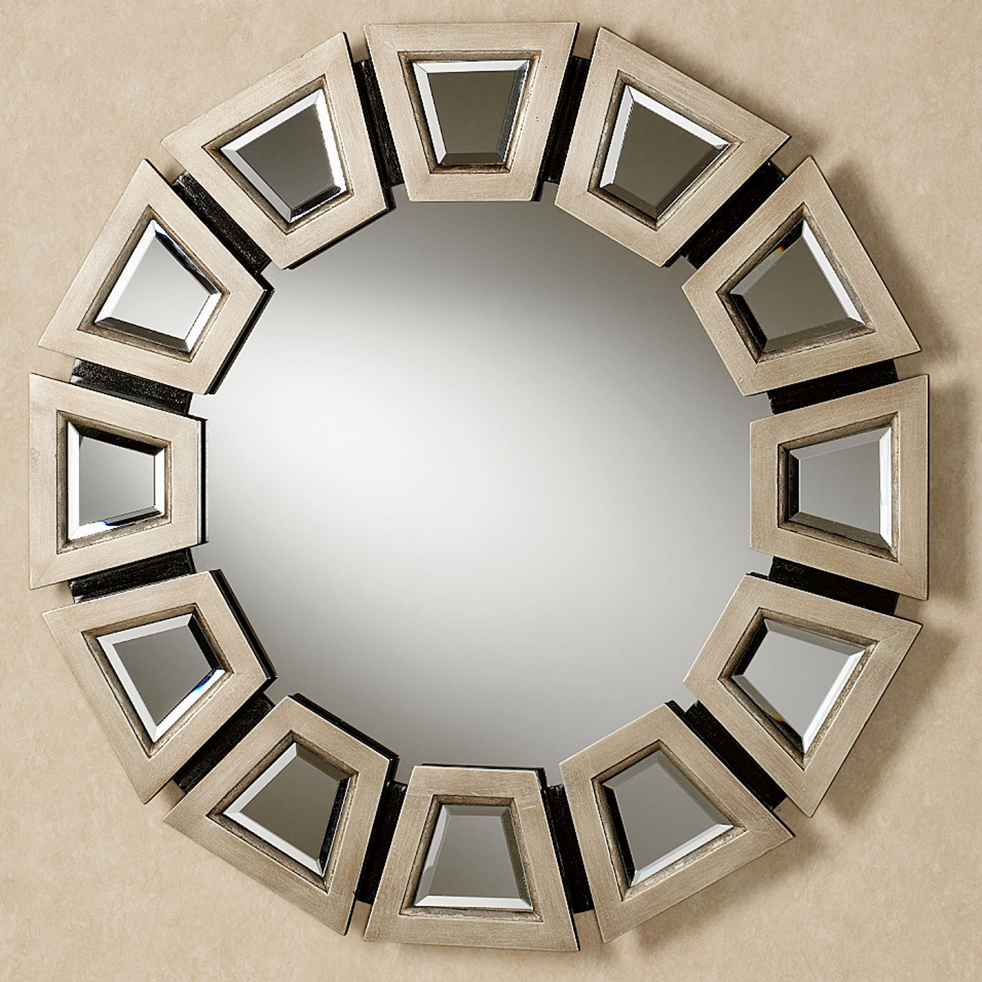 sunburst round mirror circle rose mirrored lifestyle facet diameter wheel products beaded slate decor hamilton
