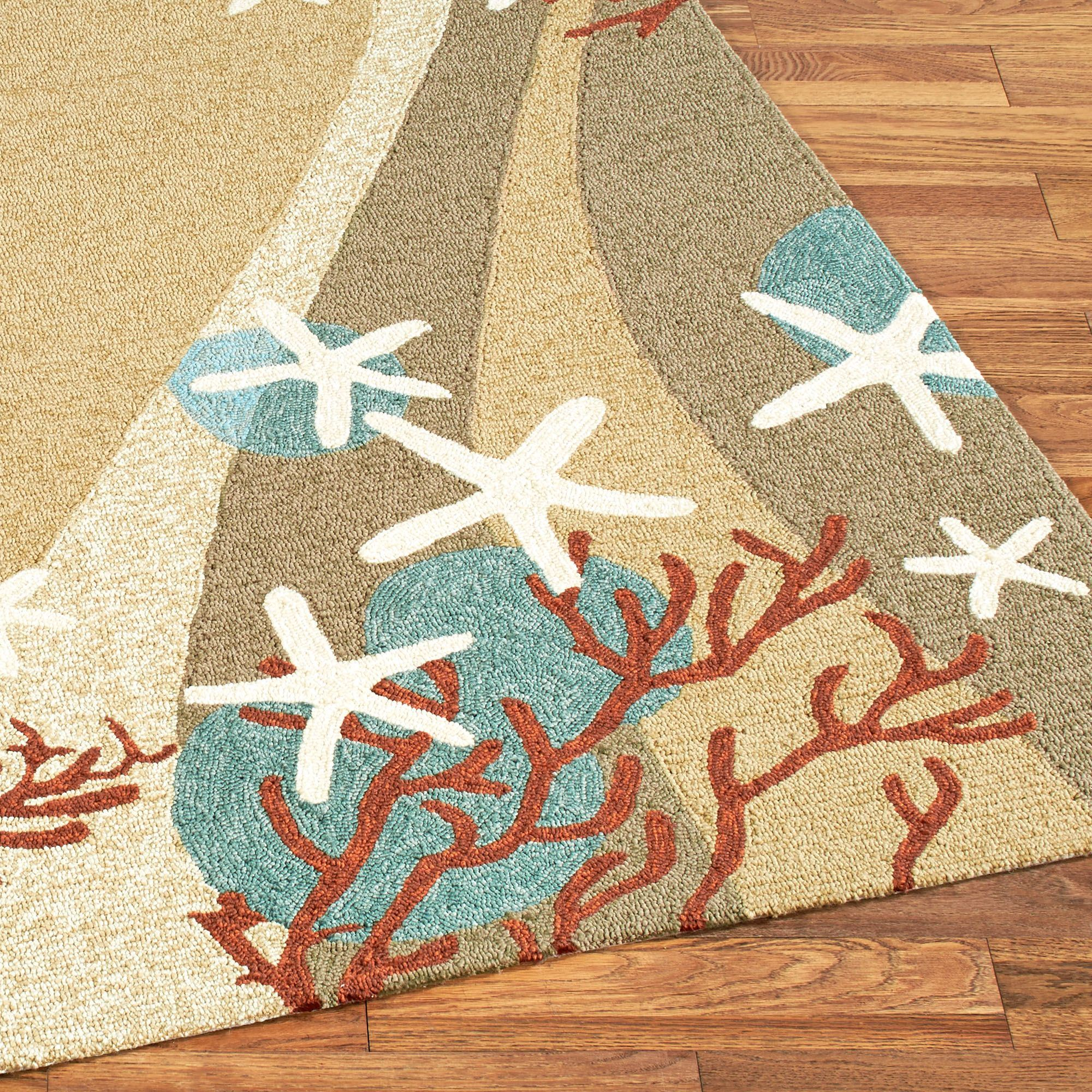Coral Waves Coastal Indoor Outdoor Rugs