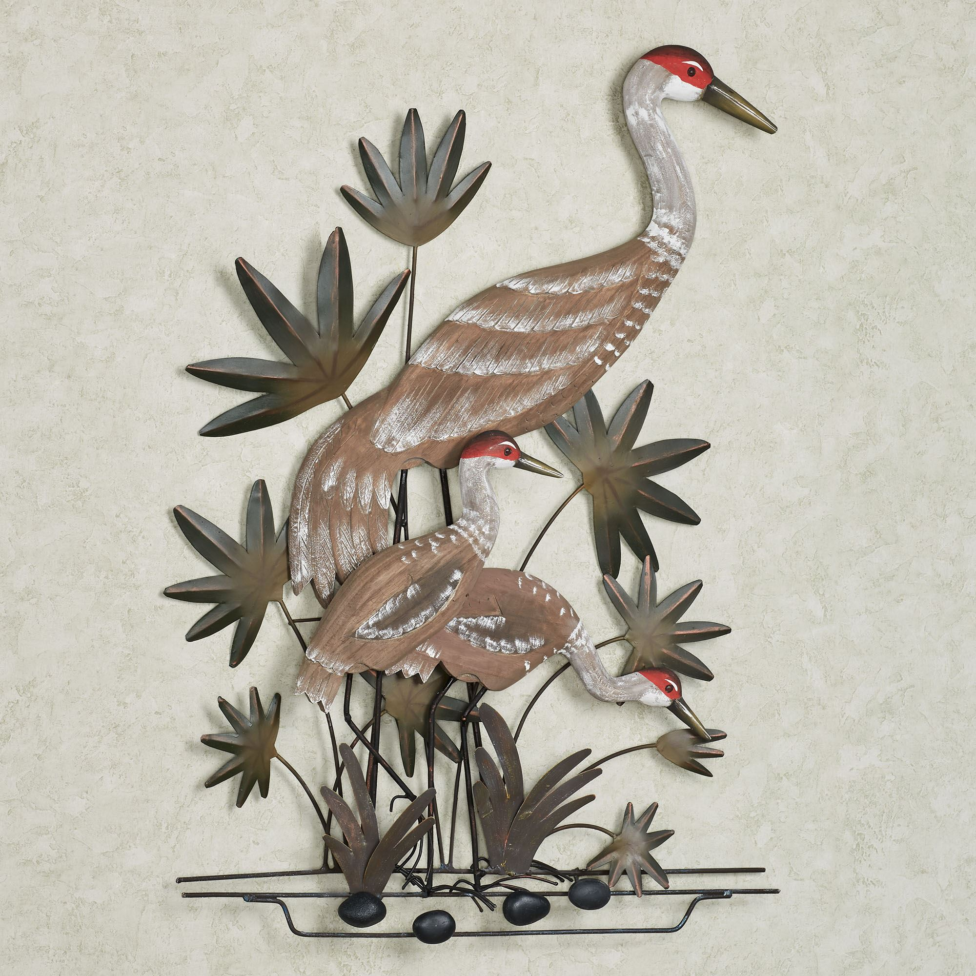 Sandhill Cranes Indoor Outdoor Wall Art Sculpture