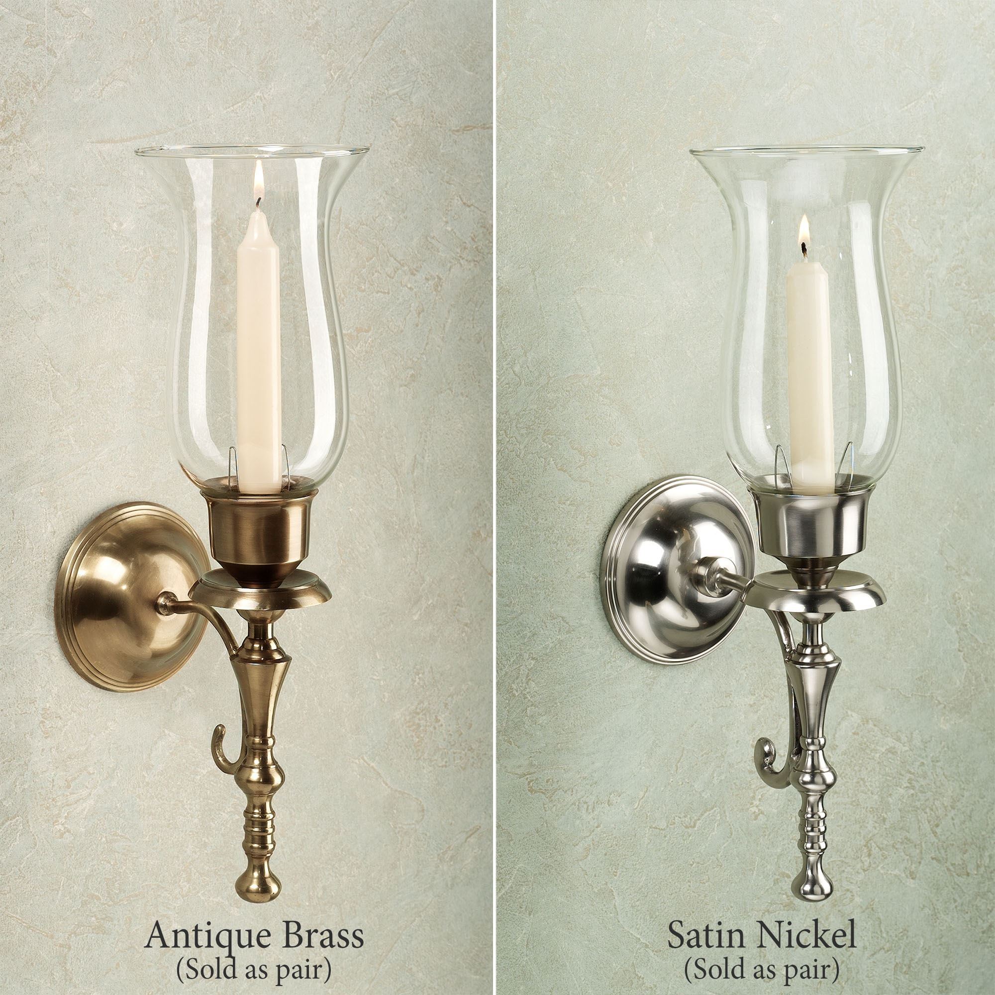 Manor Brass Wall Sconce Pair