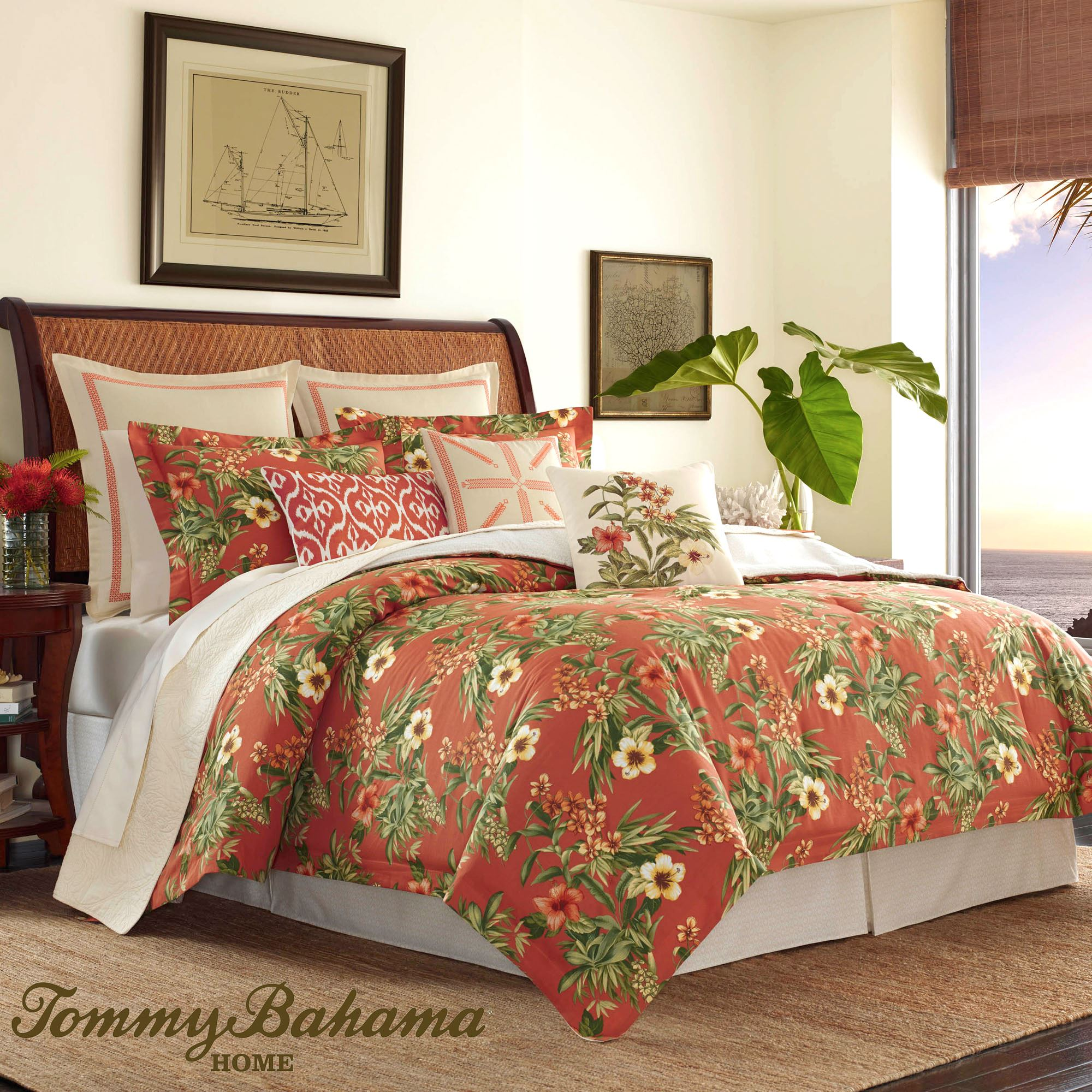tommy by comforter set mangrove bedding bahama king pin tropical