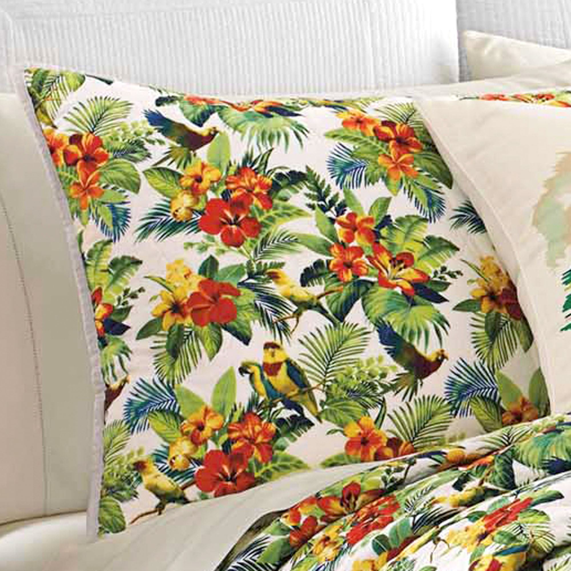 Parrot Cove Quilted Sham Multi Bright