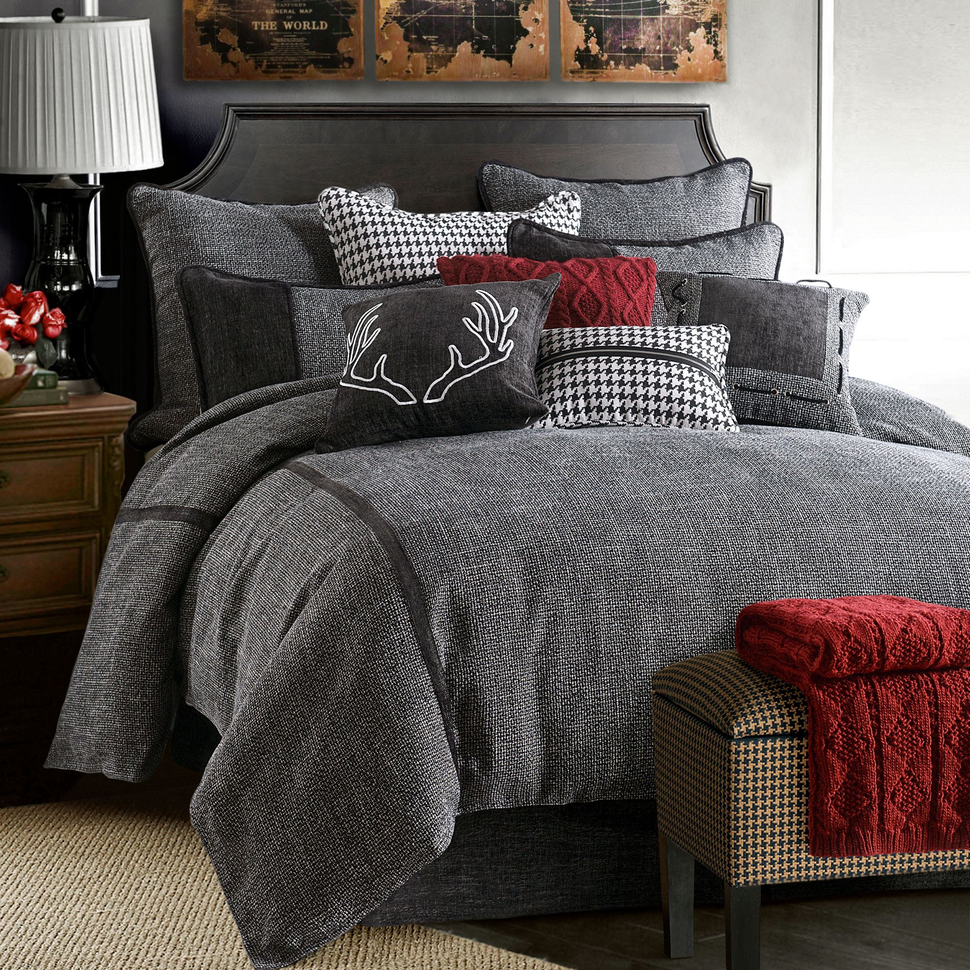 clearance comforter dark bedding down dillards c home zi sale grey comforters