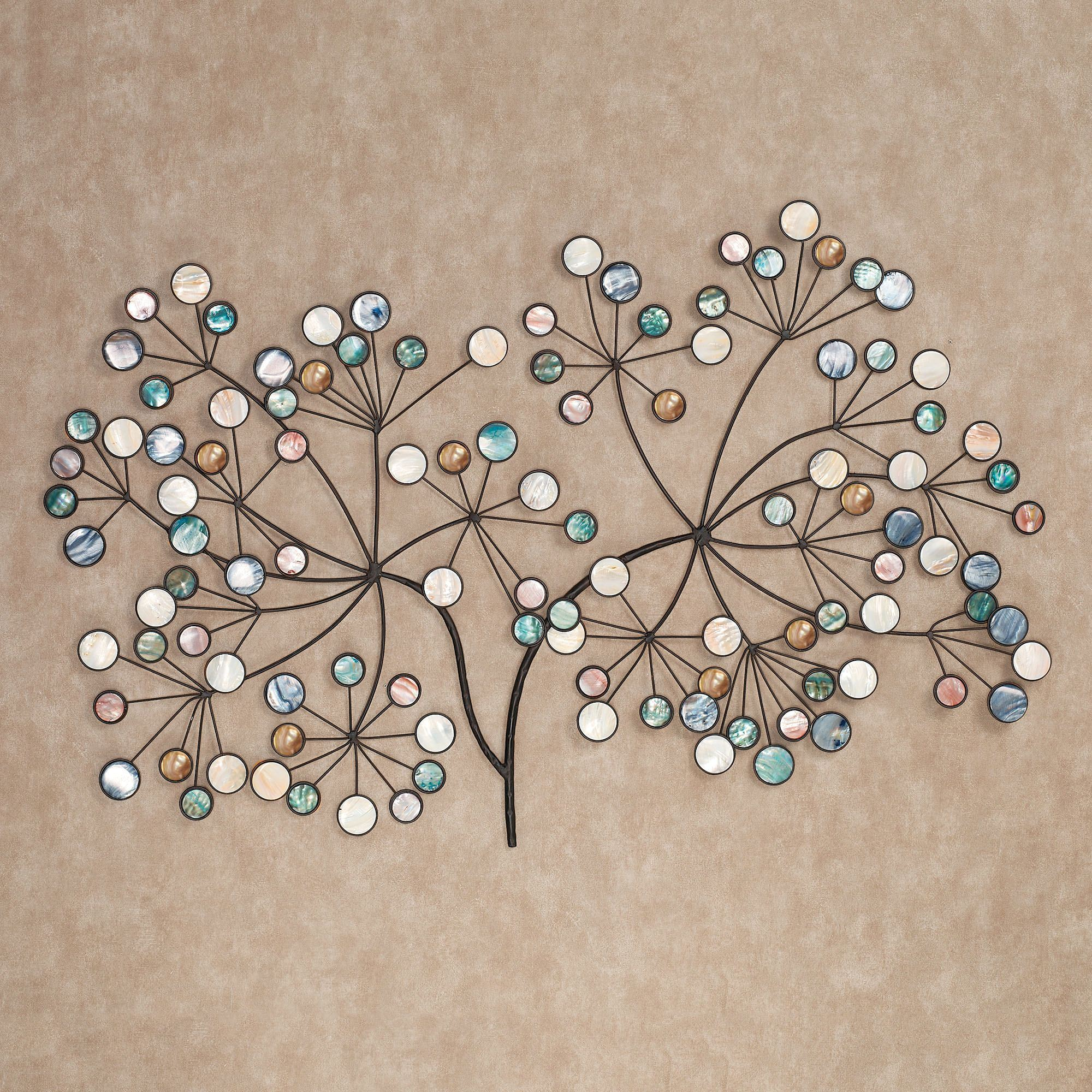 Metal Wall Art Decor Beauteous Capizia Branch Metal Wall Sculpture Art Decorating Inspiration