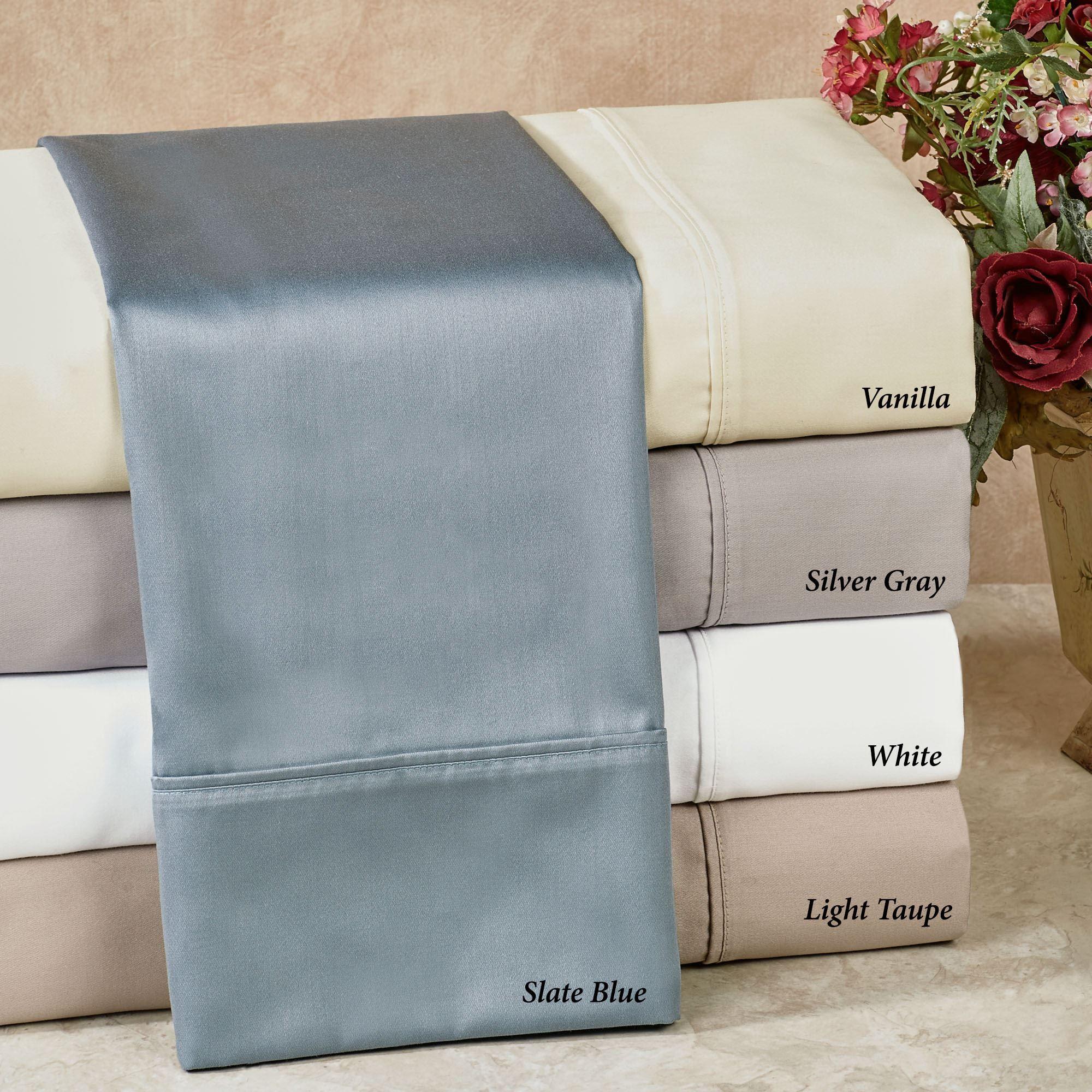 600 Tc Sullivan Solid Color Sheet Set By Highline Bedding