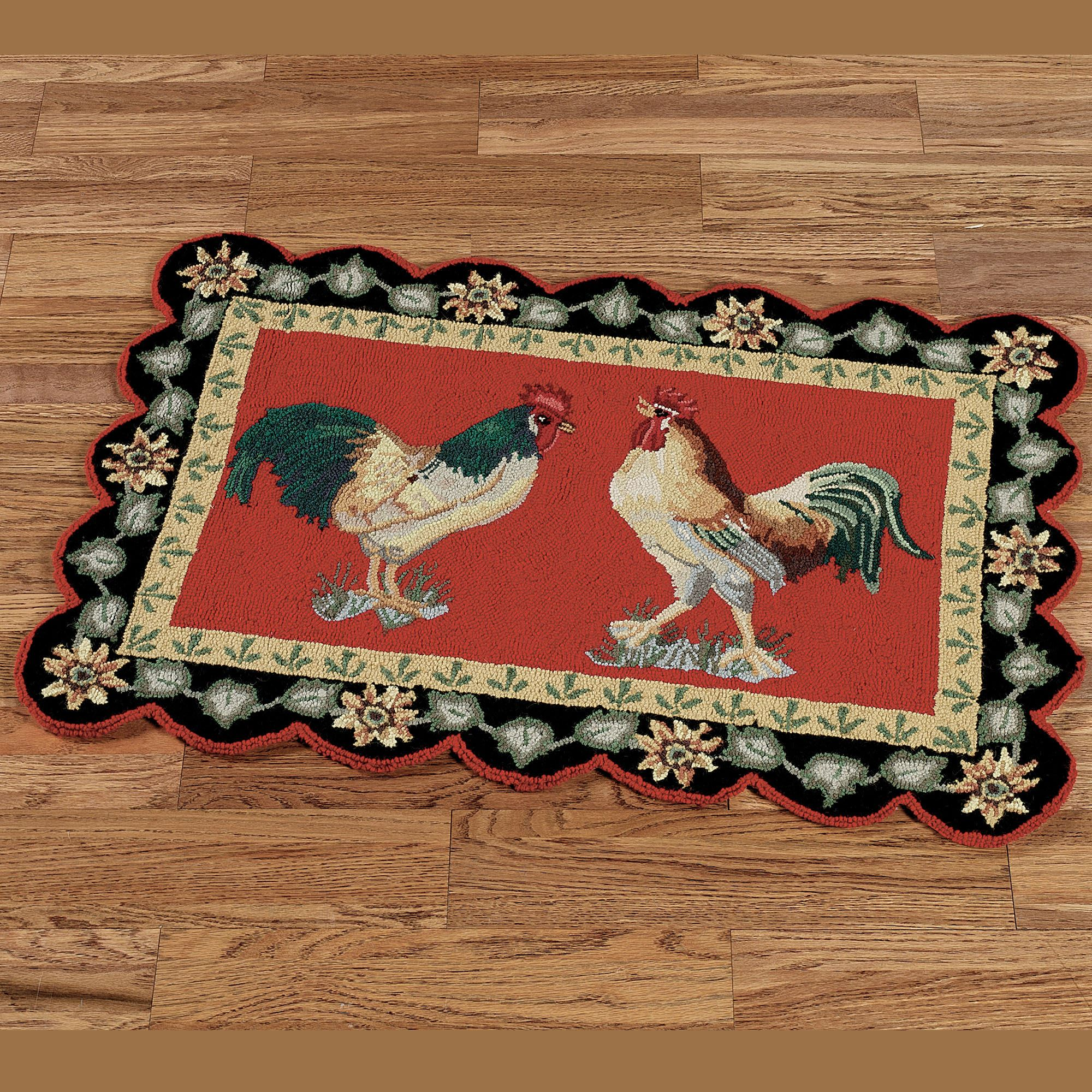 Rooster Rugs For Kitchen