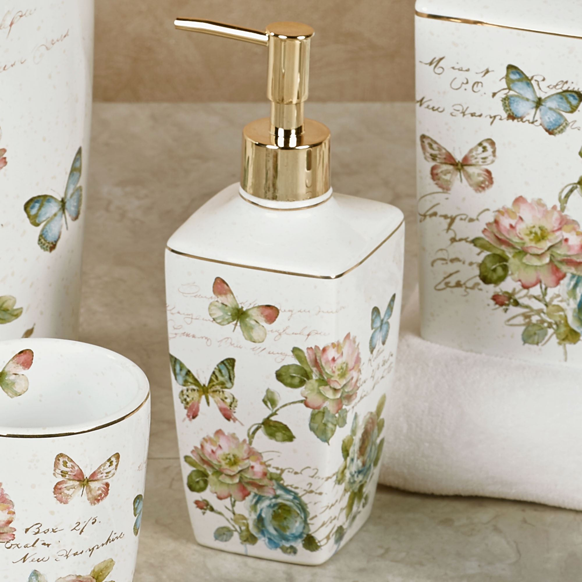 Butterfly Garden Bath Accessories