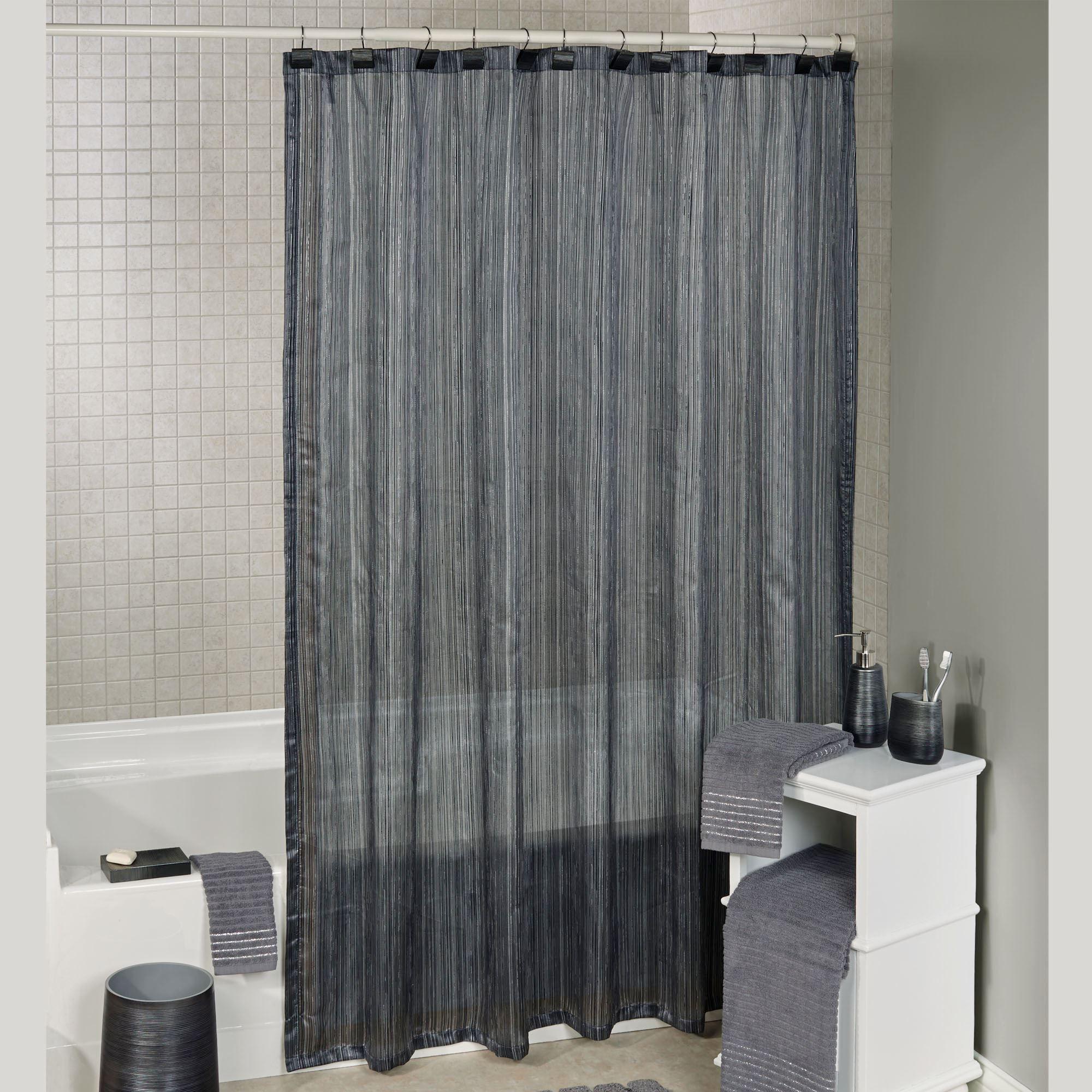 Brown Striped Shower Curtain Soozone
