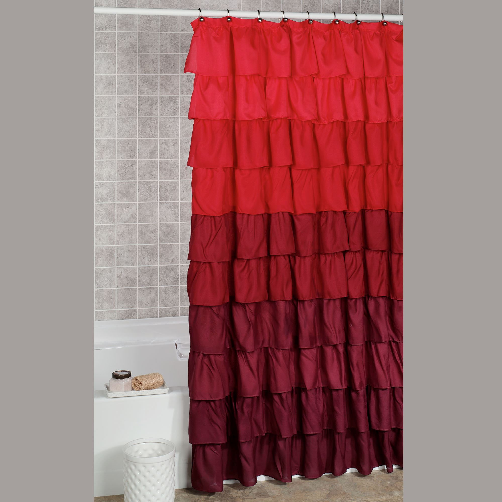 Shower Curtain Red
