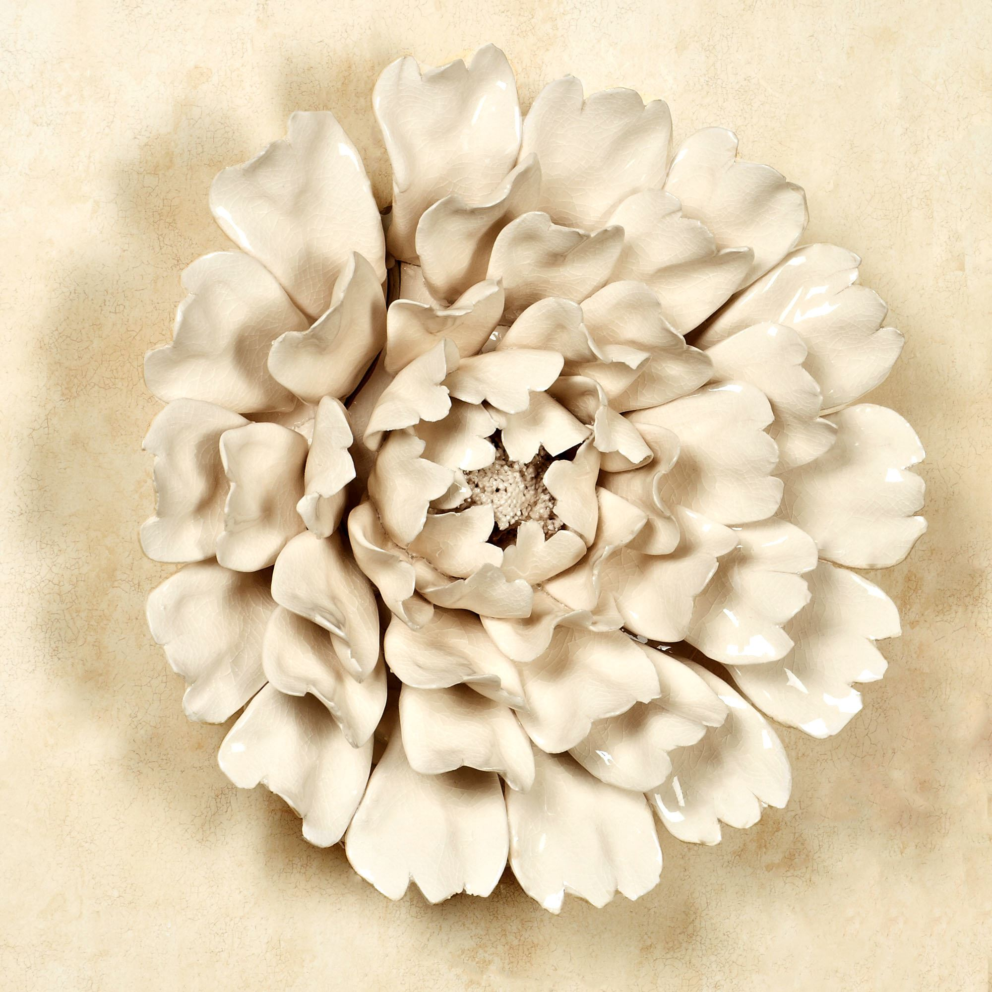 Ceramic Flower Blossom Wall Art