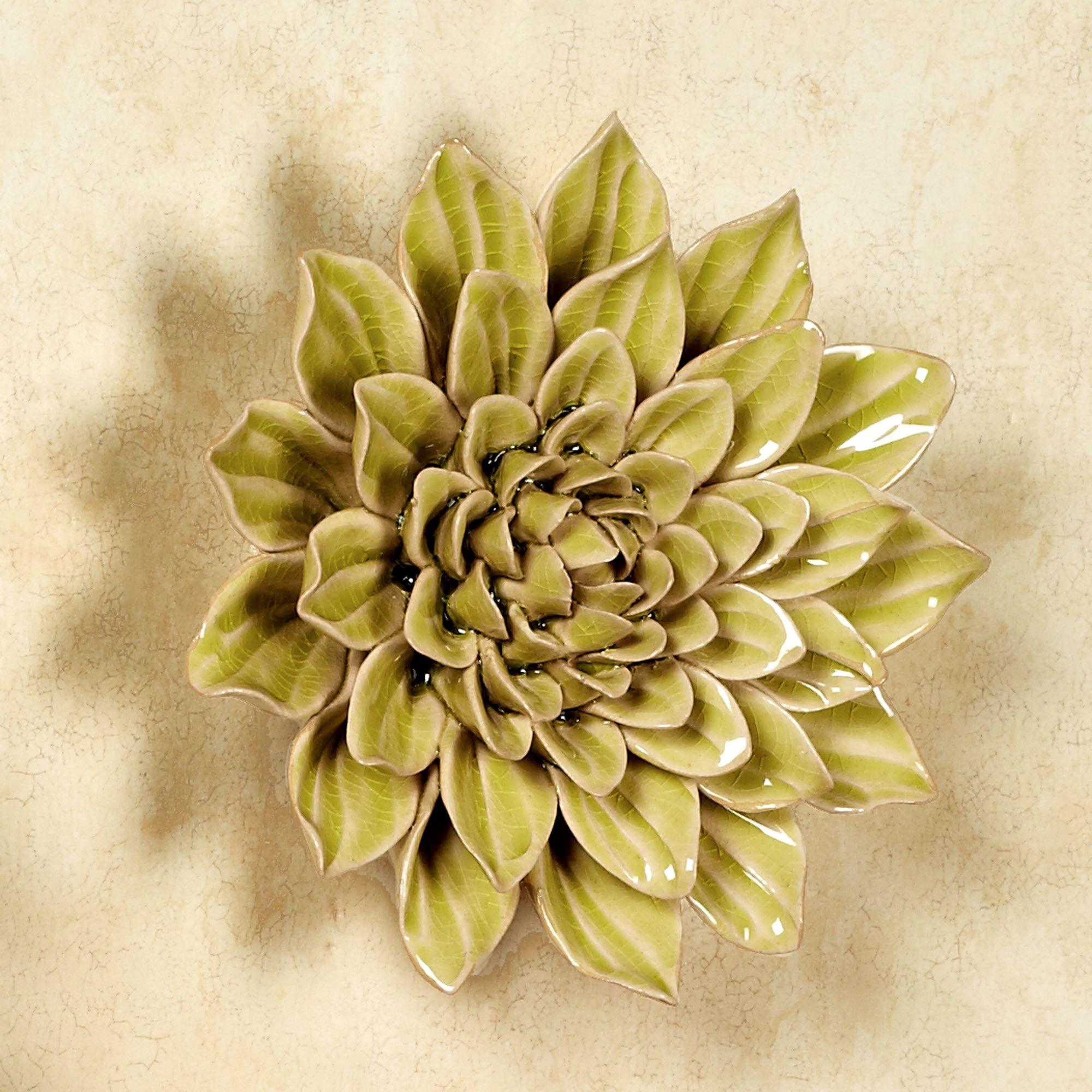 Isabella Lily Wall Art Multi Pastel & Isabella Ceramic Flower Blossom Wall Art