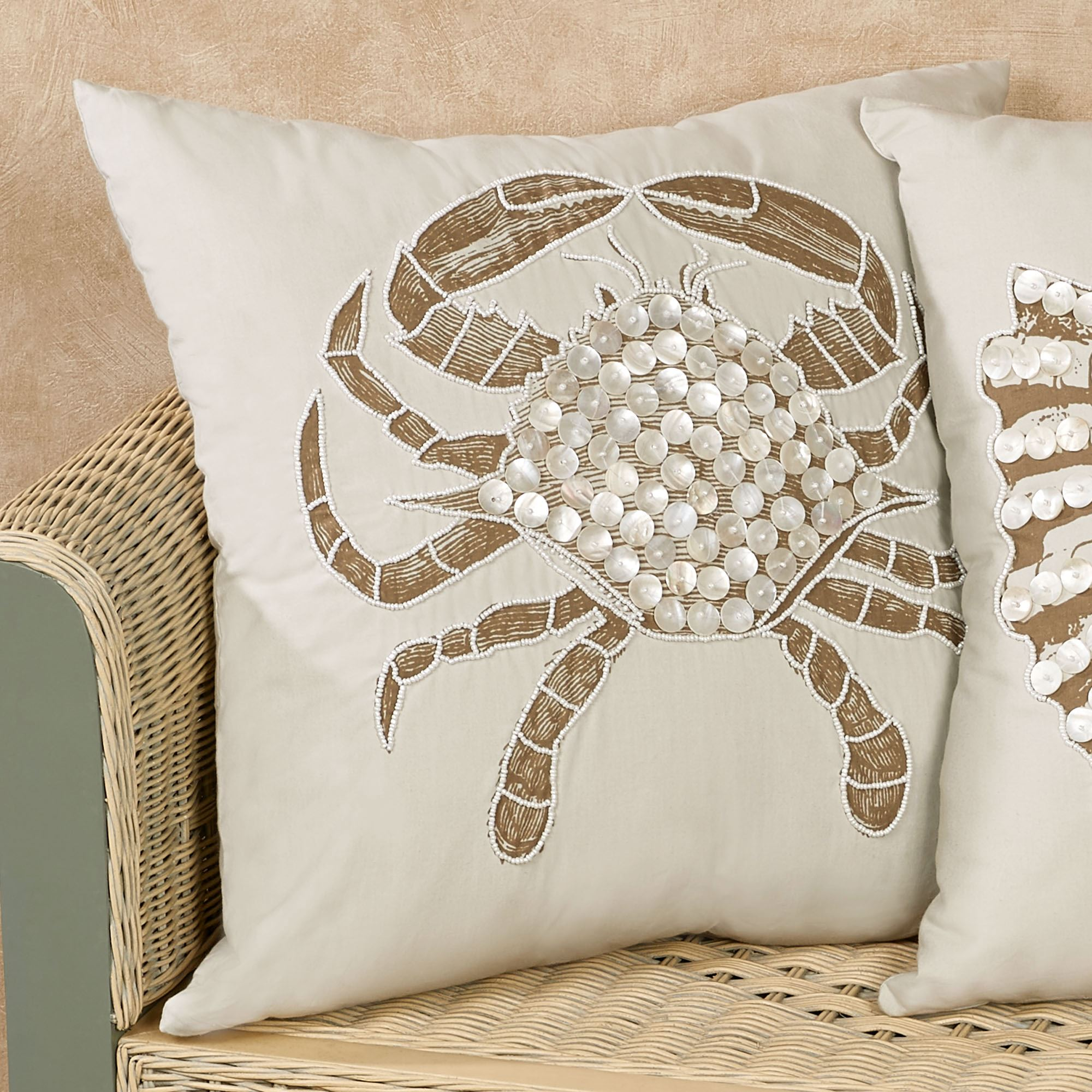 sea pillows under decorative the rectangle embroidered pillow cotton pin