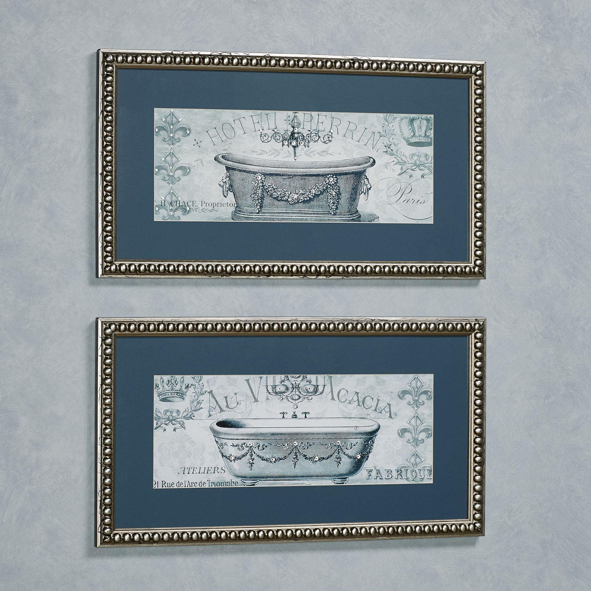 Paris Tub Framed Bathroom Wall Art
