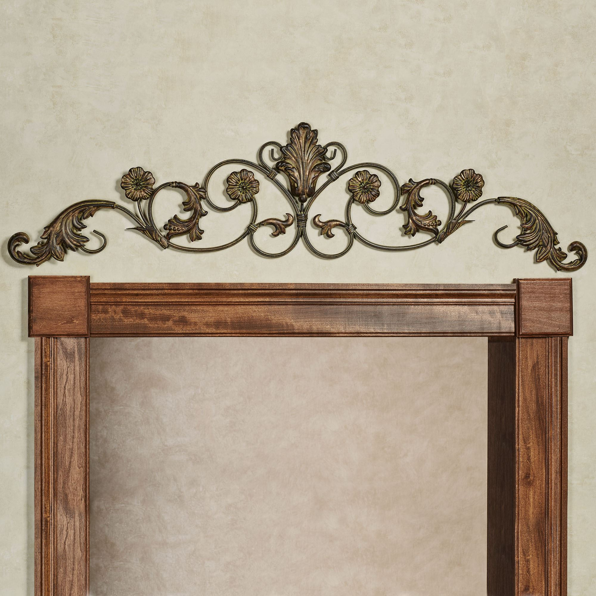 Violetta wrought iron decorative wall topper click to expand amipublicfo Images