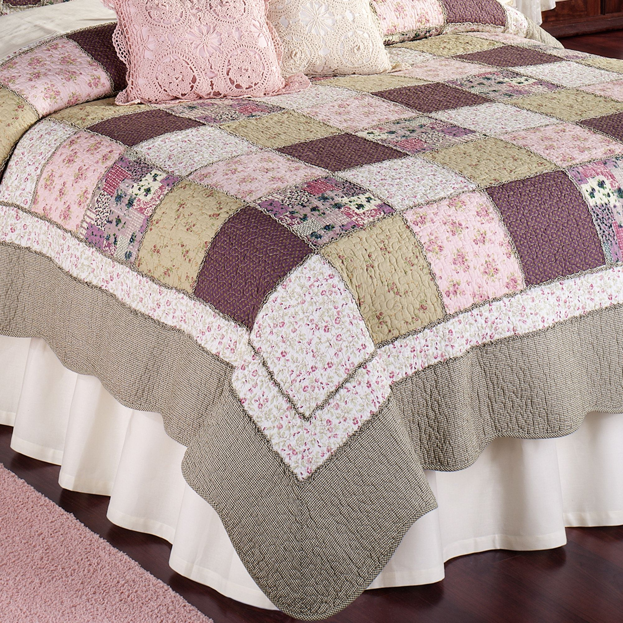 quilted pc bedding plum ever set after silver quilt and coverlet reversible product