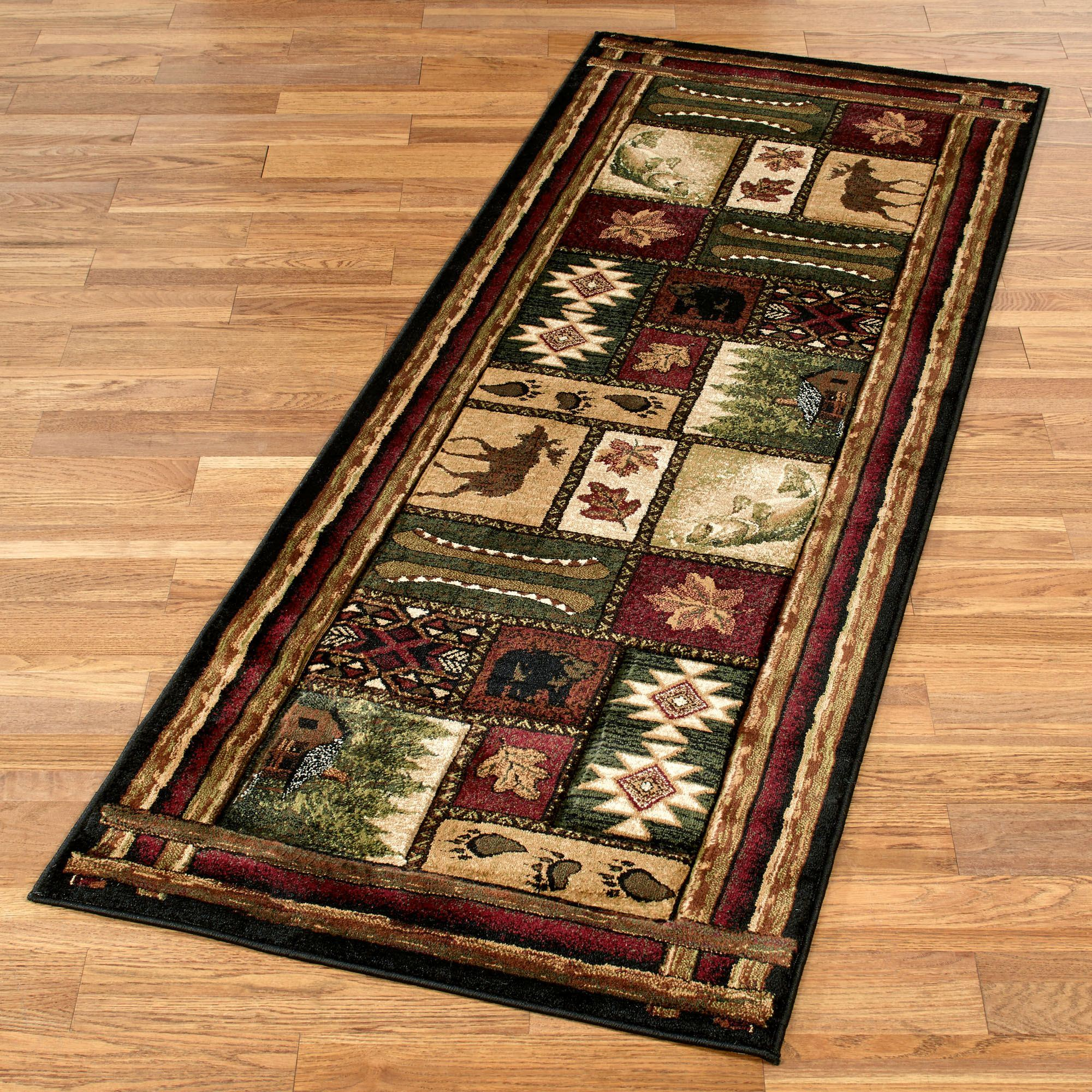 Cabin chalet rustic rug runner for Runners carpets and rugs