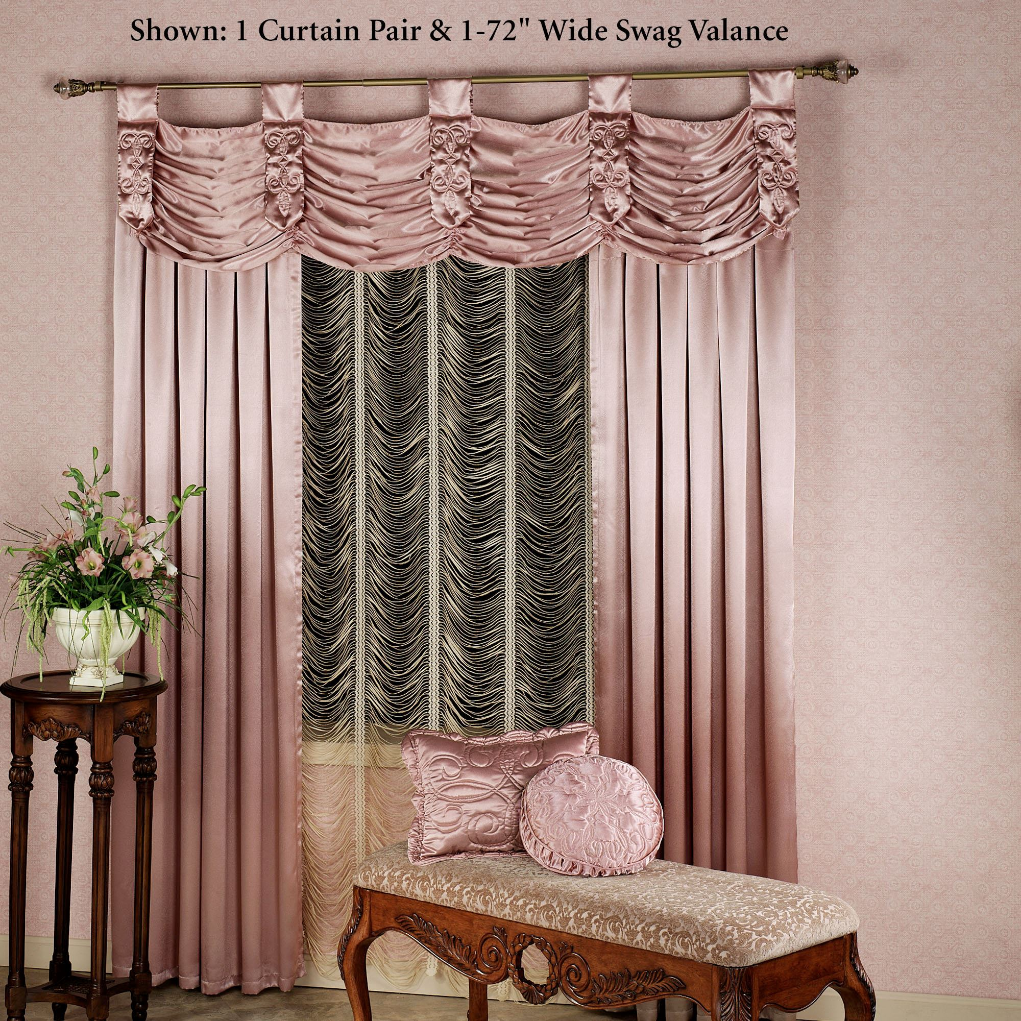 satin curtains crushed ring voile door sheer itm top curtain eyelet panel window madeira