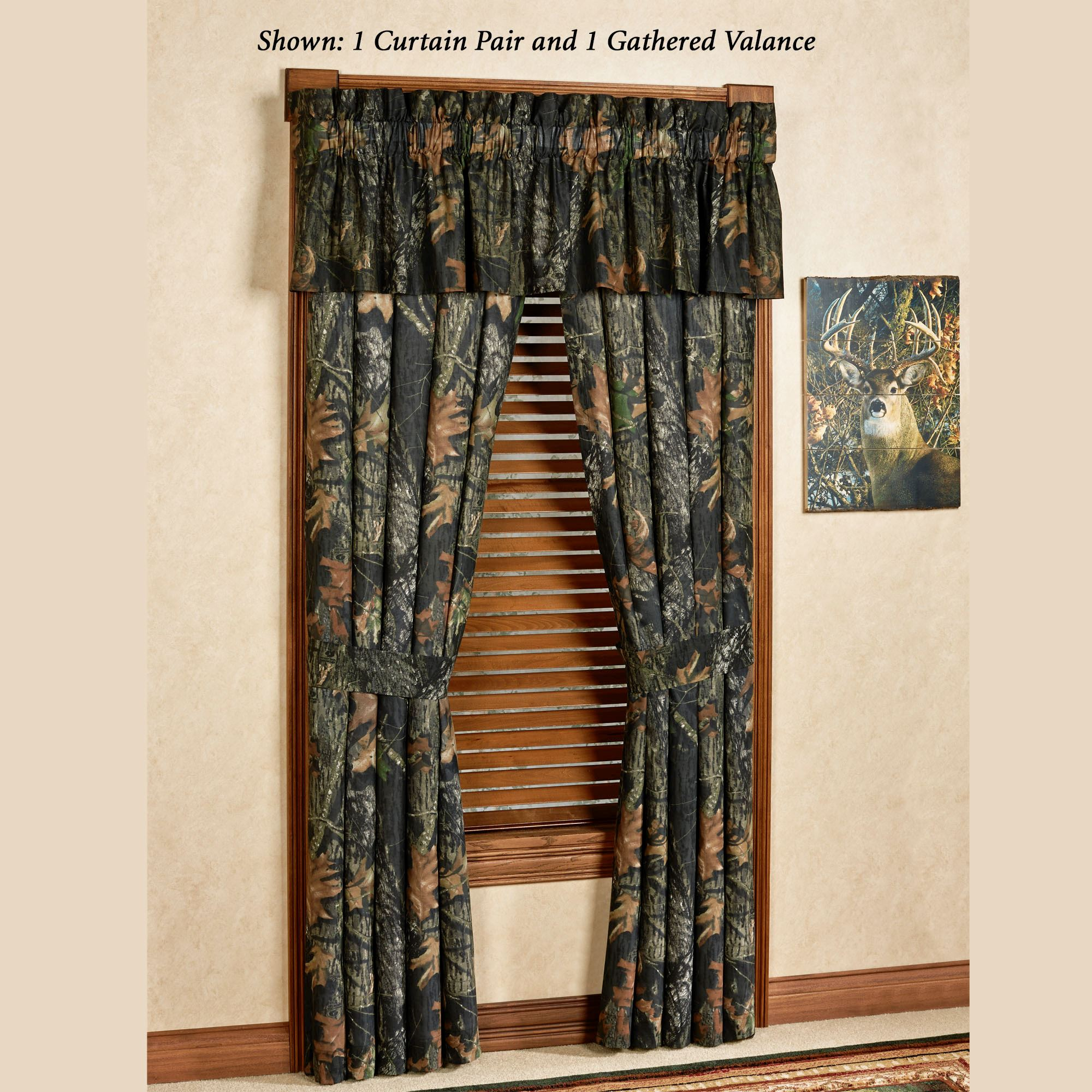 Mossy Oak New Break Up Camo Window Treatment