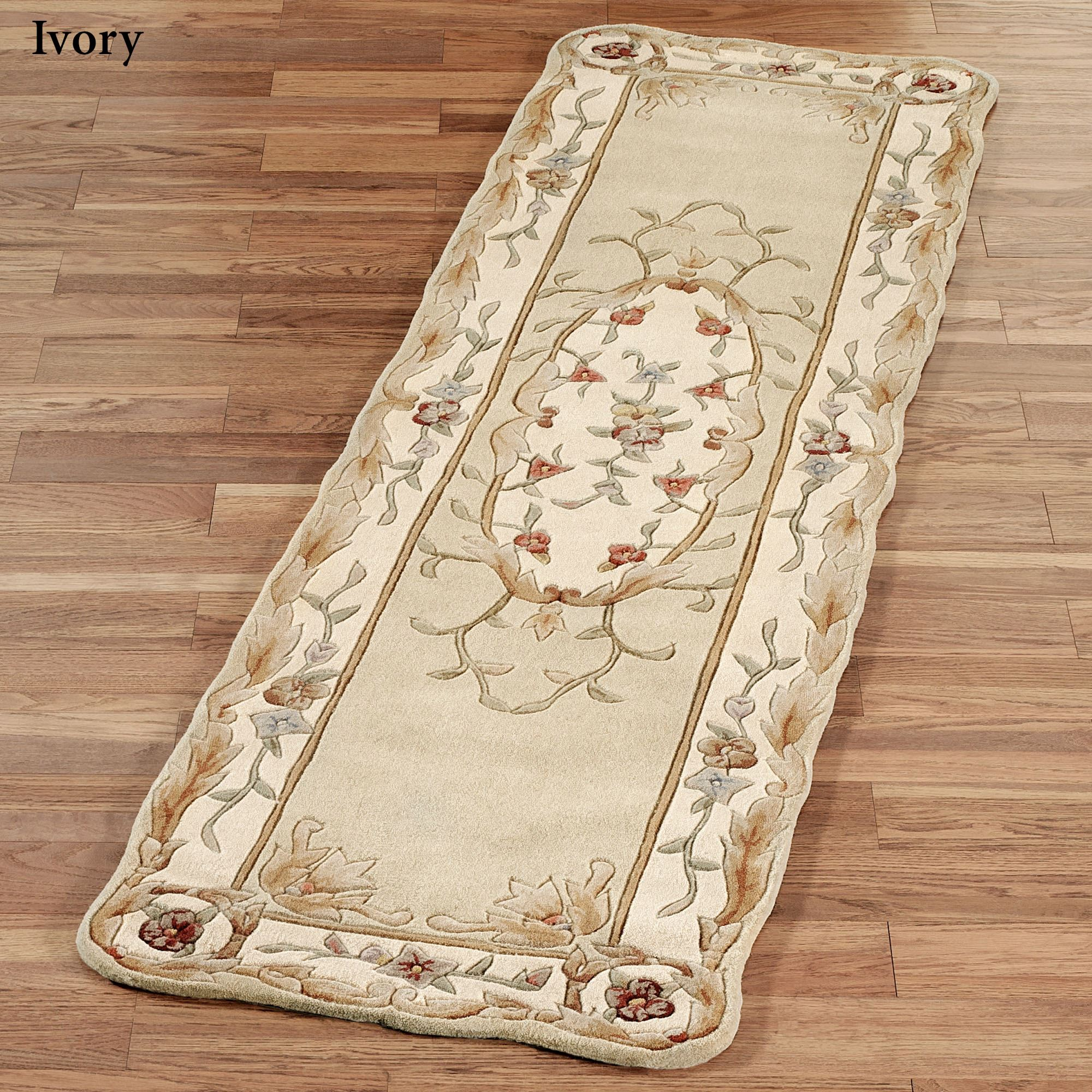 Rose Aubusson Sculpted Rug Runners