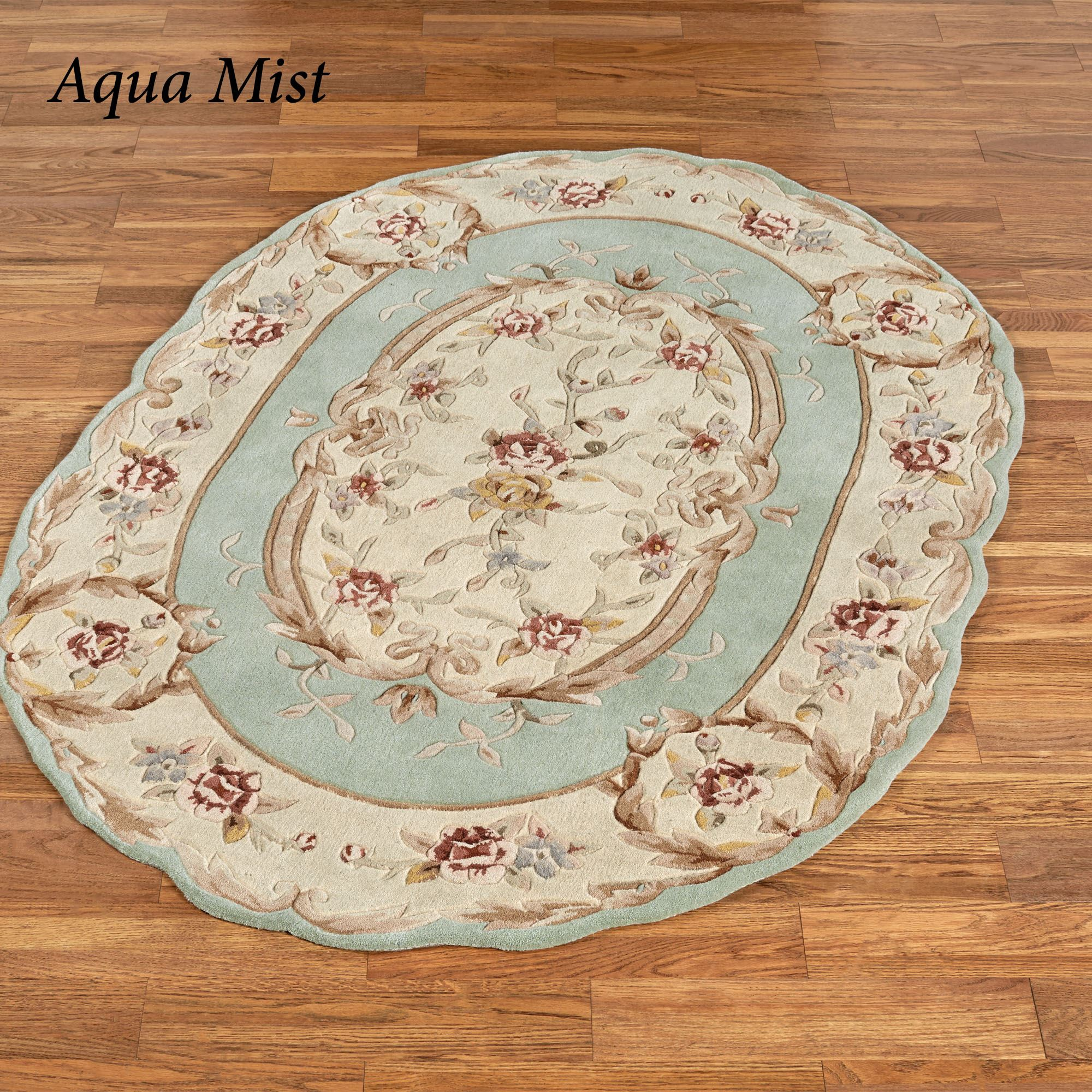 Rose Aubusson Sculpted Oval Rugs