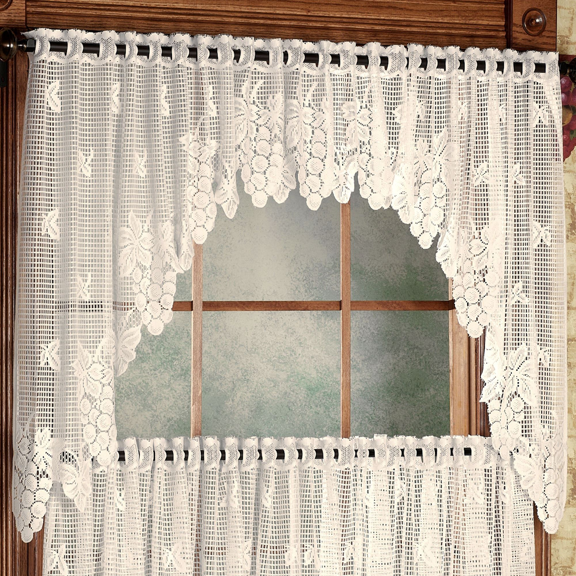 or curtains curtain tier valance kitchen sheer alison tp lace swag