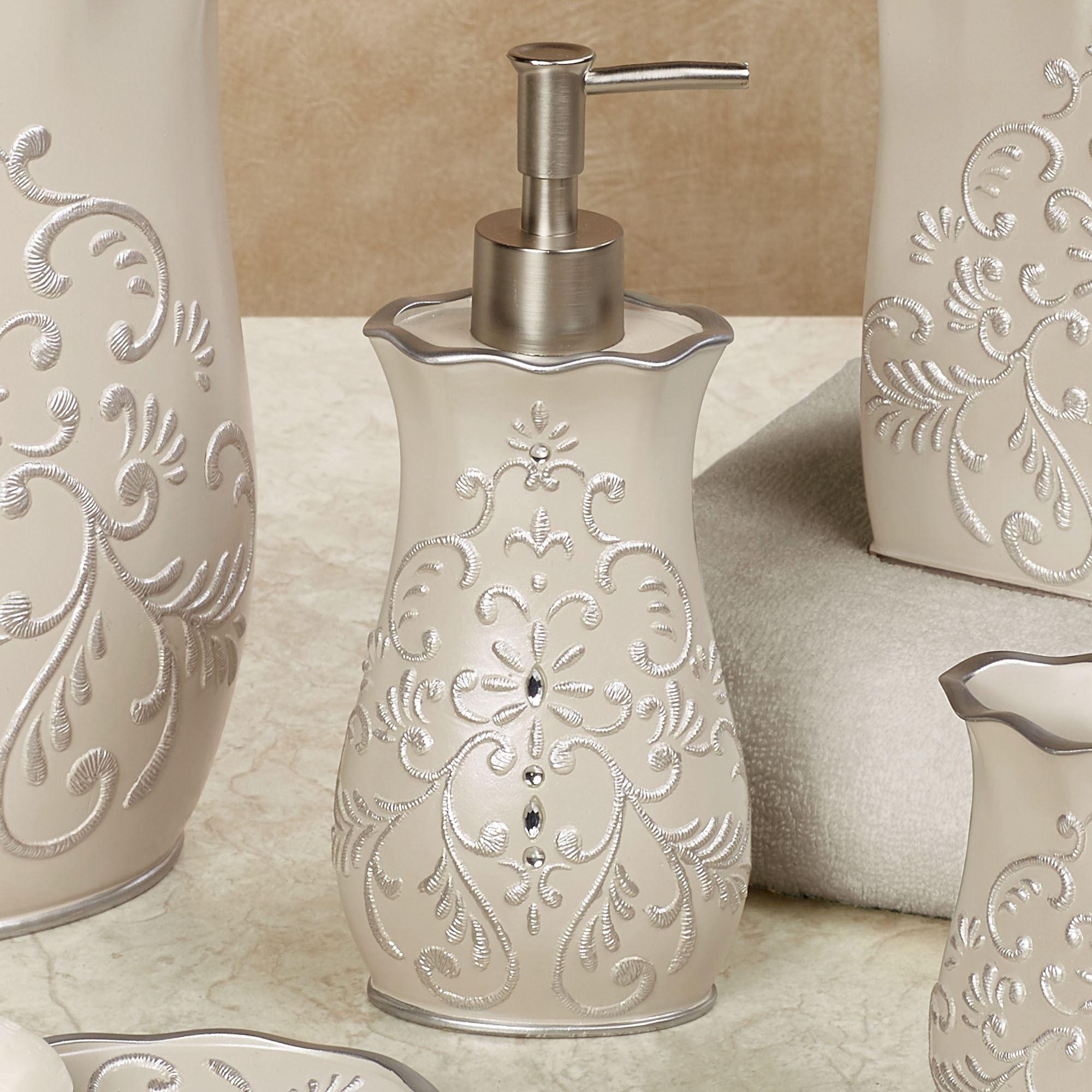 Elegant Regal Lotion Soap Dispenser Beige