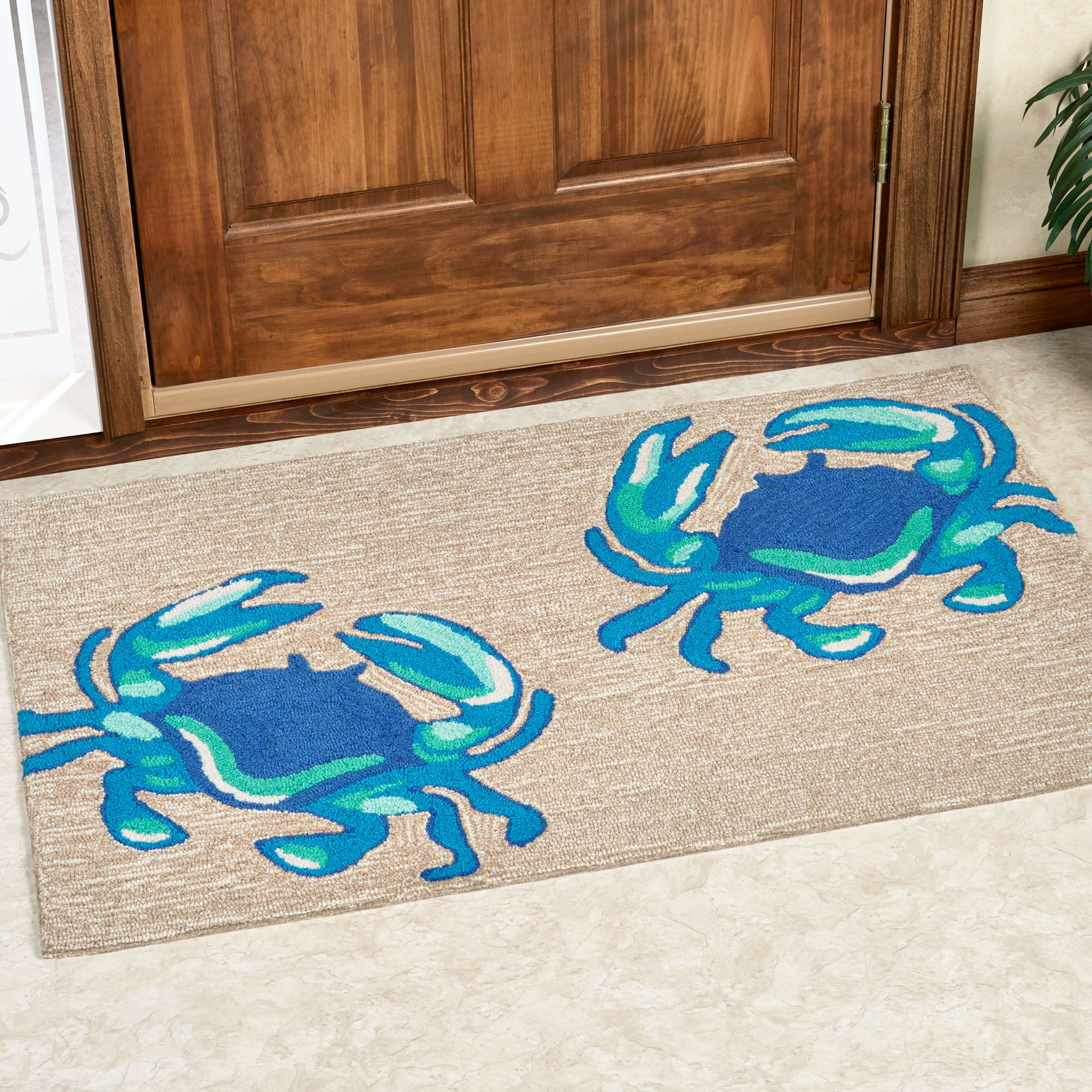 blue crabs indoor outdoor rugs. Black Bedroom Furniture Sets. Home Design Ideas