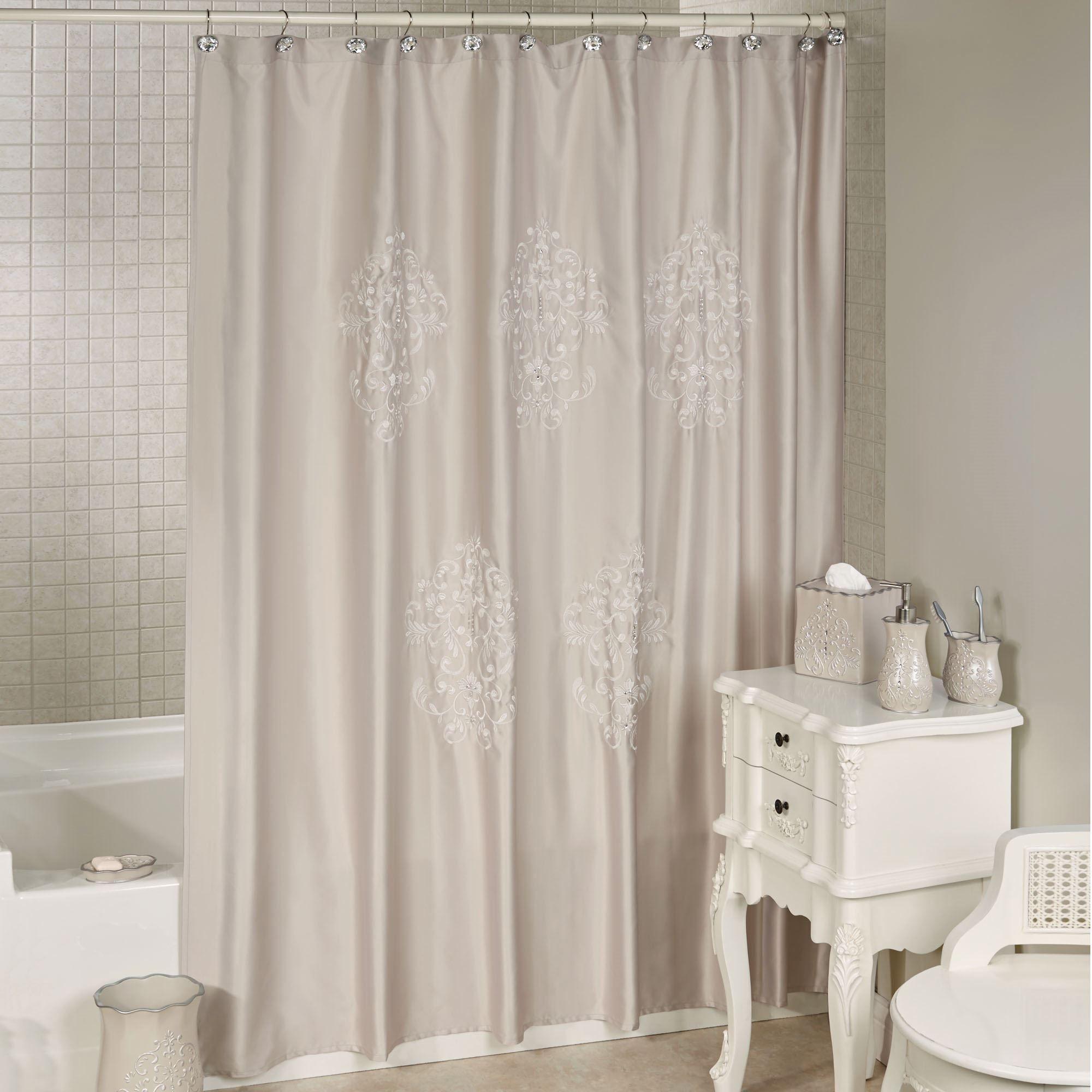 curtain kitchen home shower maytex amazon linen dp beige fabric com stripe