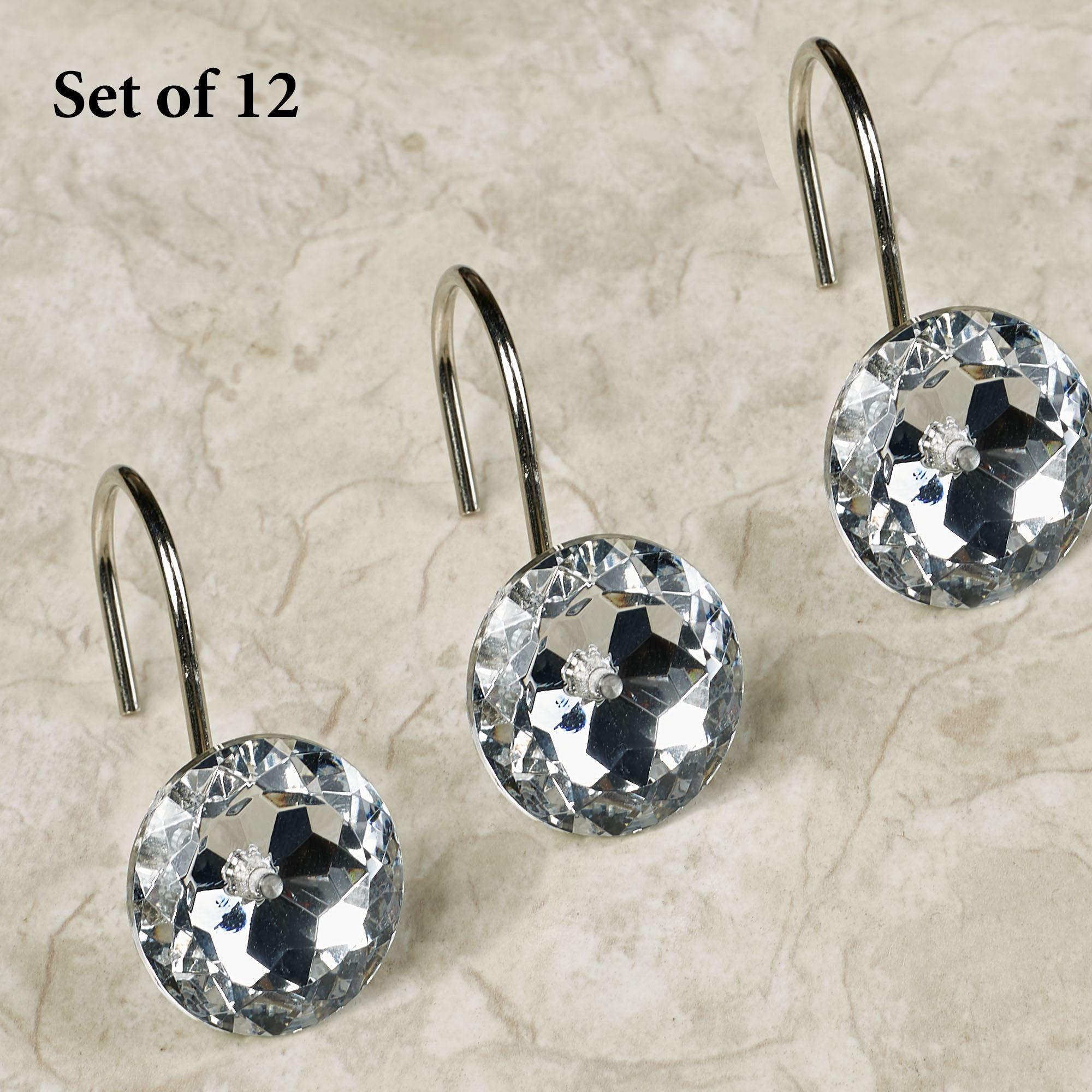 Regal Jeweled Shower Curtain Hook Set