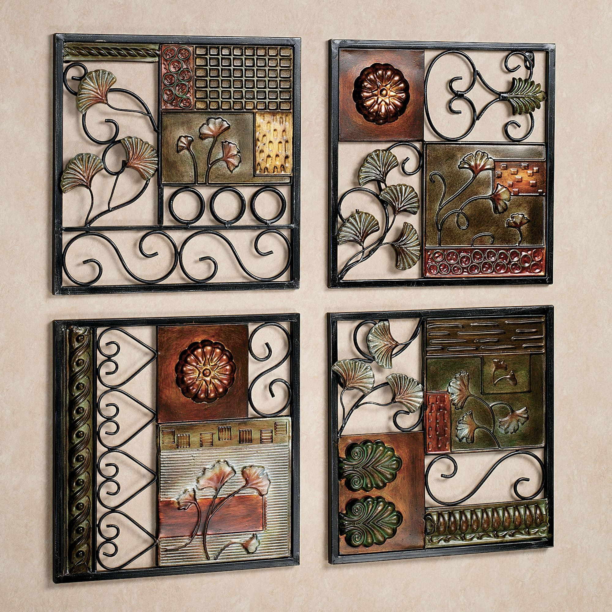 Metal Wall Plaques For Kitchen Dusk And Dawn Metal Wall Art Set