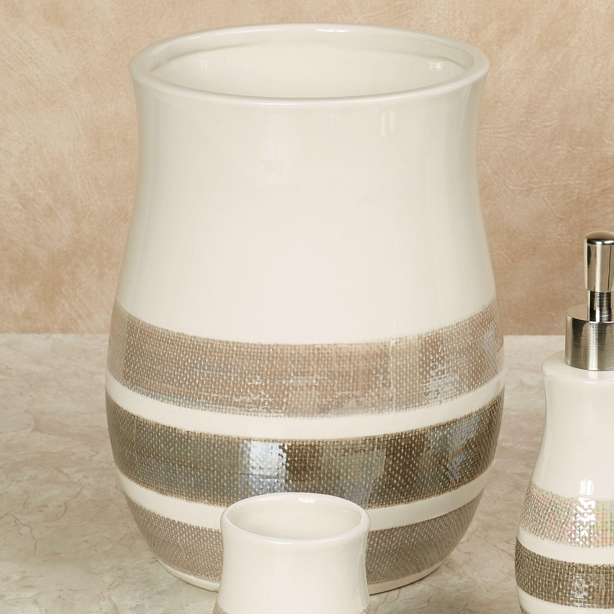 Mesmerize Wastebasket Light Cream