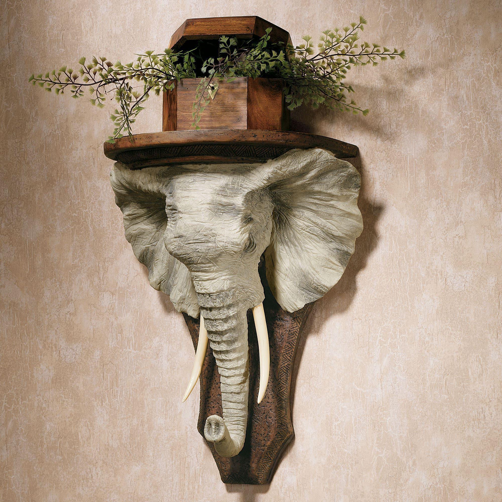Etonnant Elephant Wall Shelf